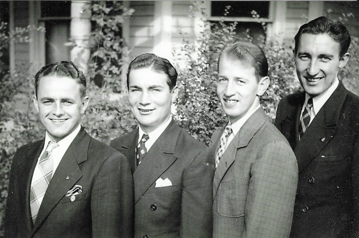 Young Elder Carl Freeman, third from left, performed in a traveling quartet while serving in the Northern States Mission.