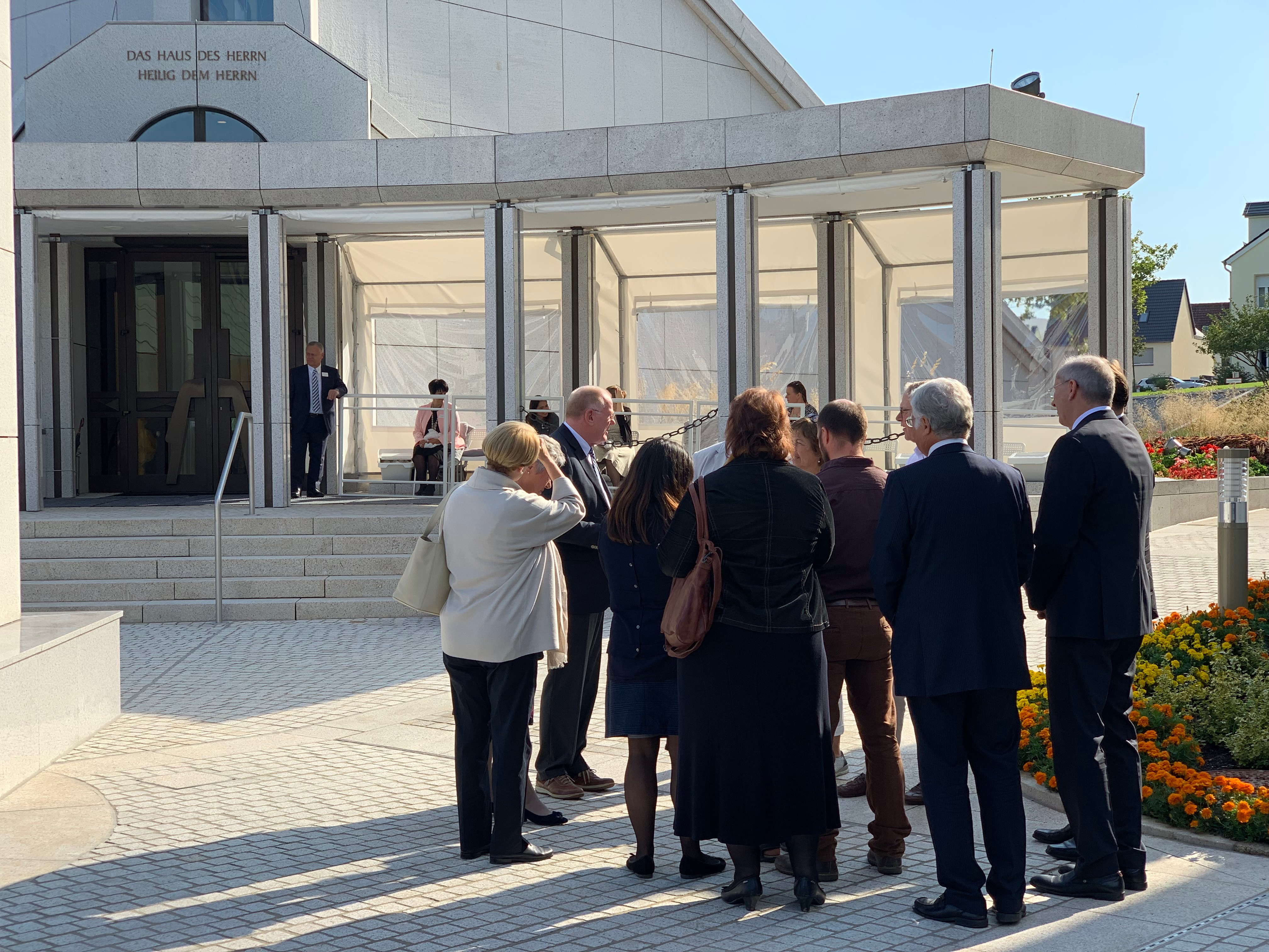 Media tour the Frankfurt Germany Temple on Sept. 9, 2019, in conjunction with the beginning of the public open house before the temple is rededicated