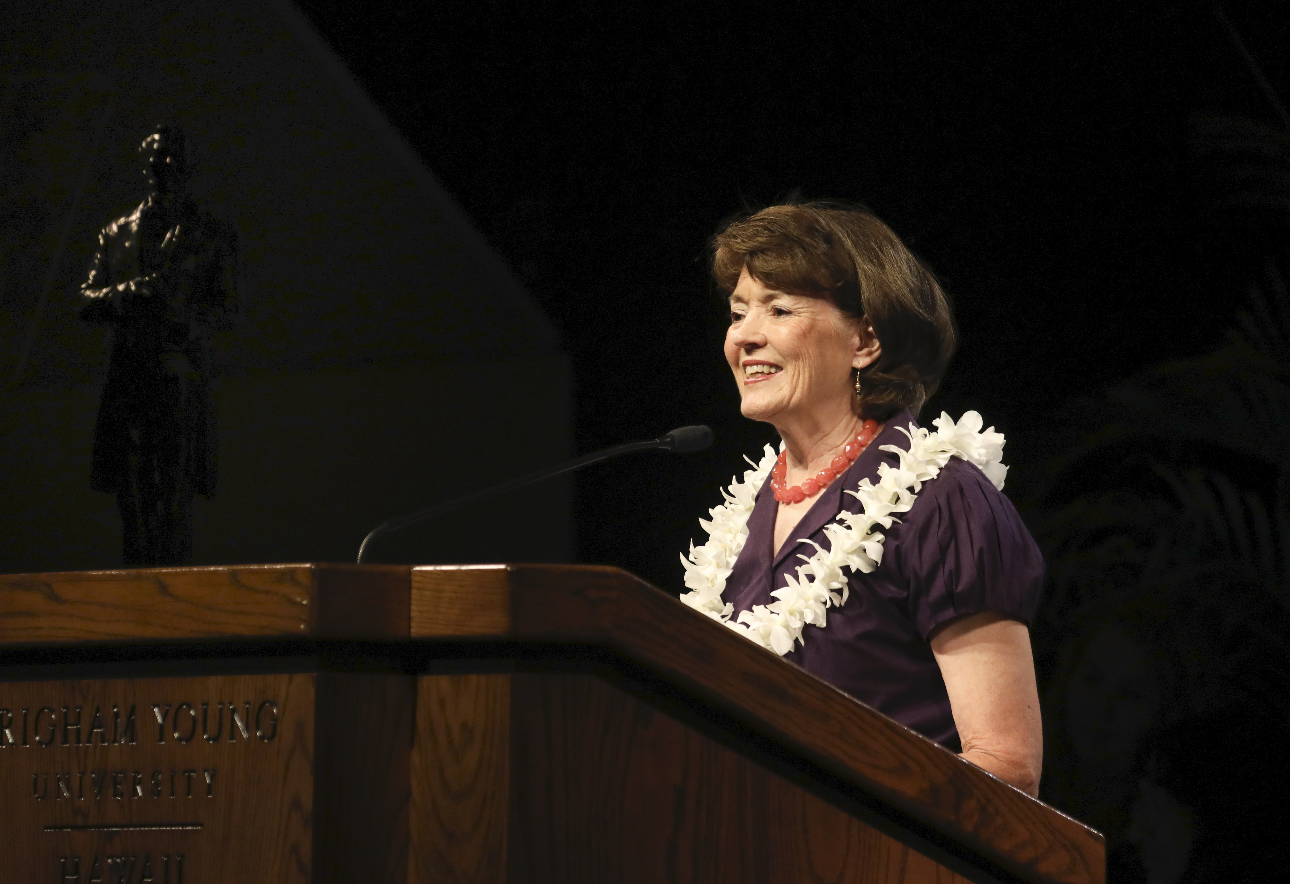 Sister Susan W. Tanner speaks to students at the BYU - Hawaii Devotional on September 10, 2019.