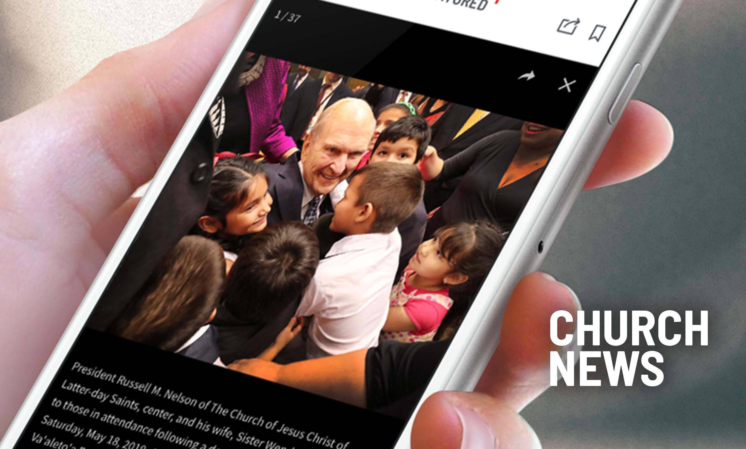 An image of the Church News app.