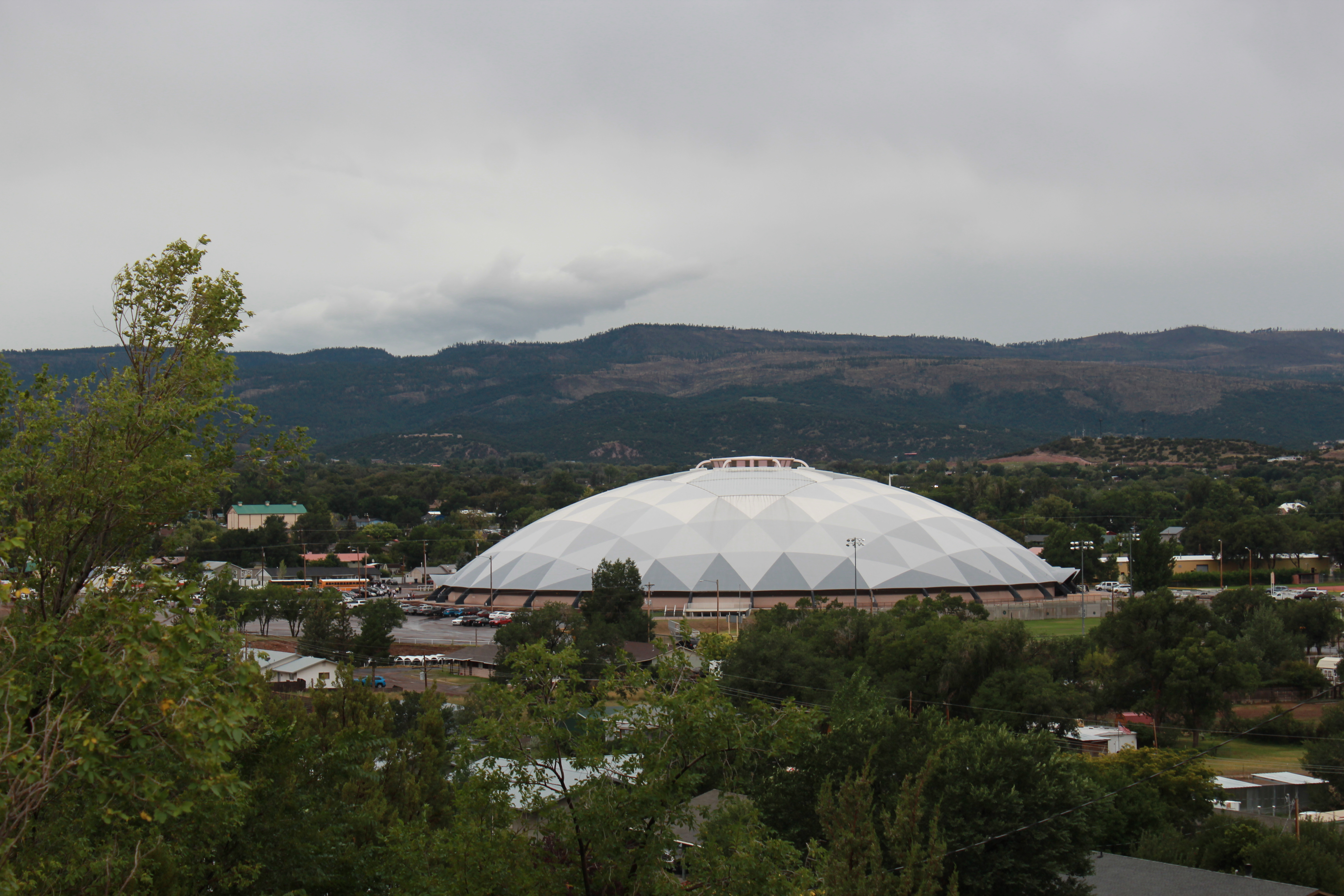 A seven-stake devotional of The Church of Jesus Christ of Latter-day Saints was held at the Round Valley Dome, a one-of-a-kind high school sports stadium, on Sept. 14, 2019.