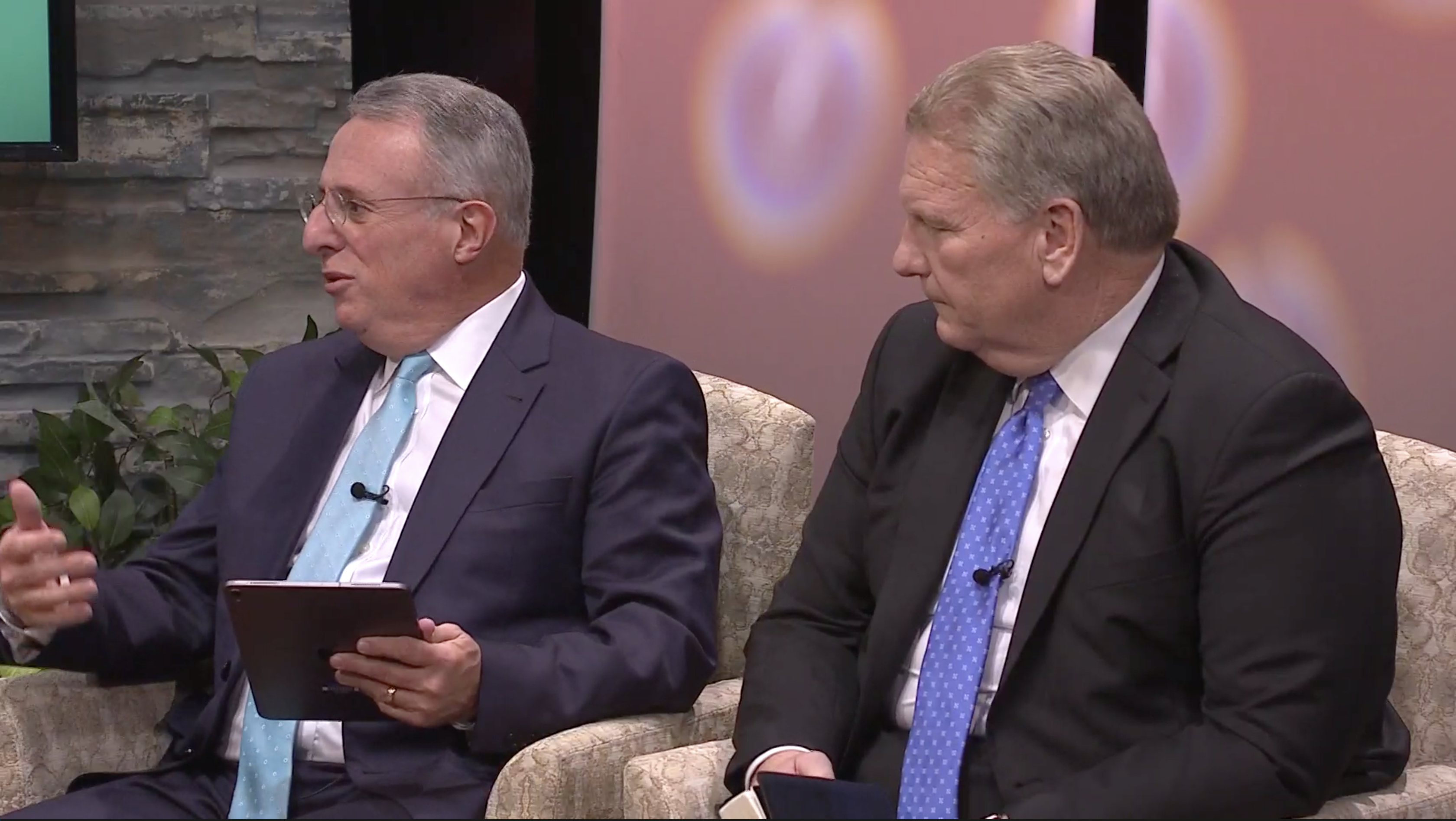 Elder Ulisses Soares and Elder Craig C. Christensen answer questions live from young adults during a Face to Face event on Sept. 15.