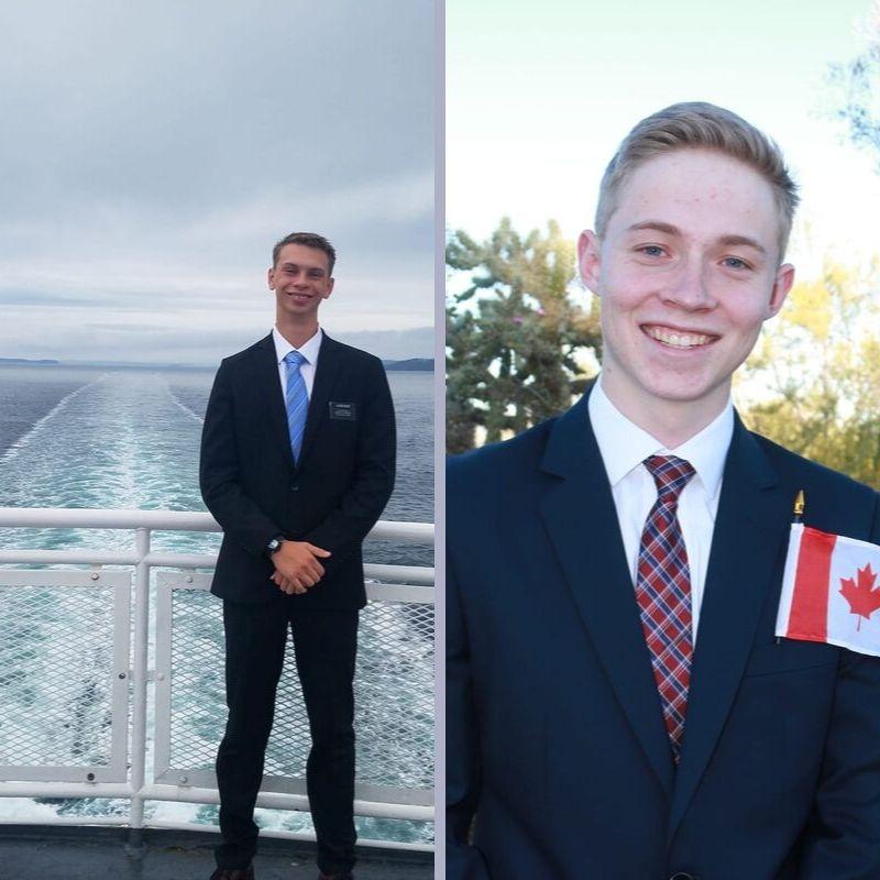 Elder Bryant Keck, 19, from Sanford, Colorado (left), and Elder Dallin Thompson, 19, from Sahuarita, Arizona (right).