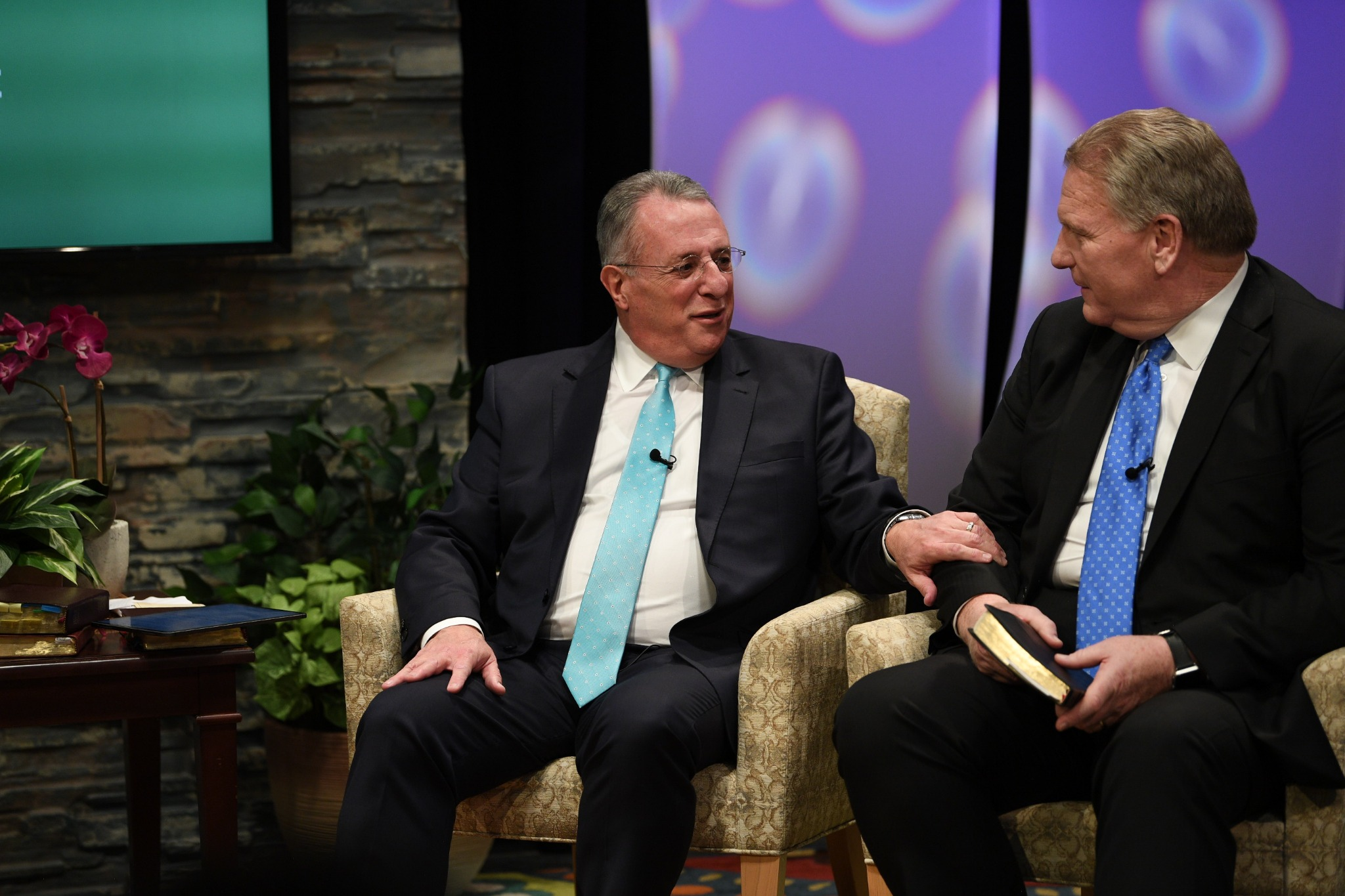 Elder Ulisses Soares of the Quorum of the Twelve Apostles and Elder Craig C. Christensen of the Seventy participate in a live 90-minute Worldwide Devotional Face to Face broadcast for young adults of The Church of Jesus Christ of Latter-day Saints on September 15, 2019.