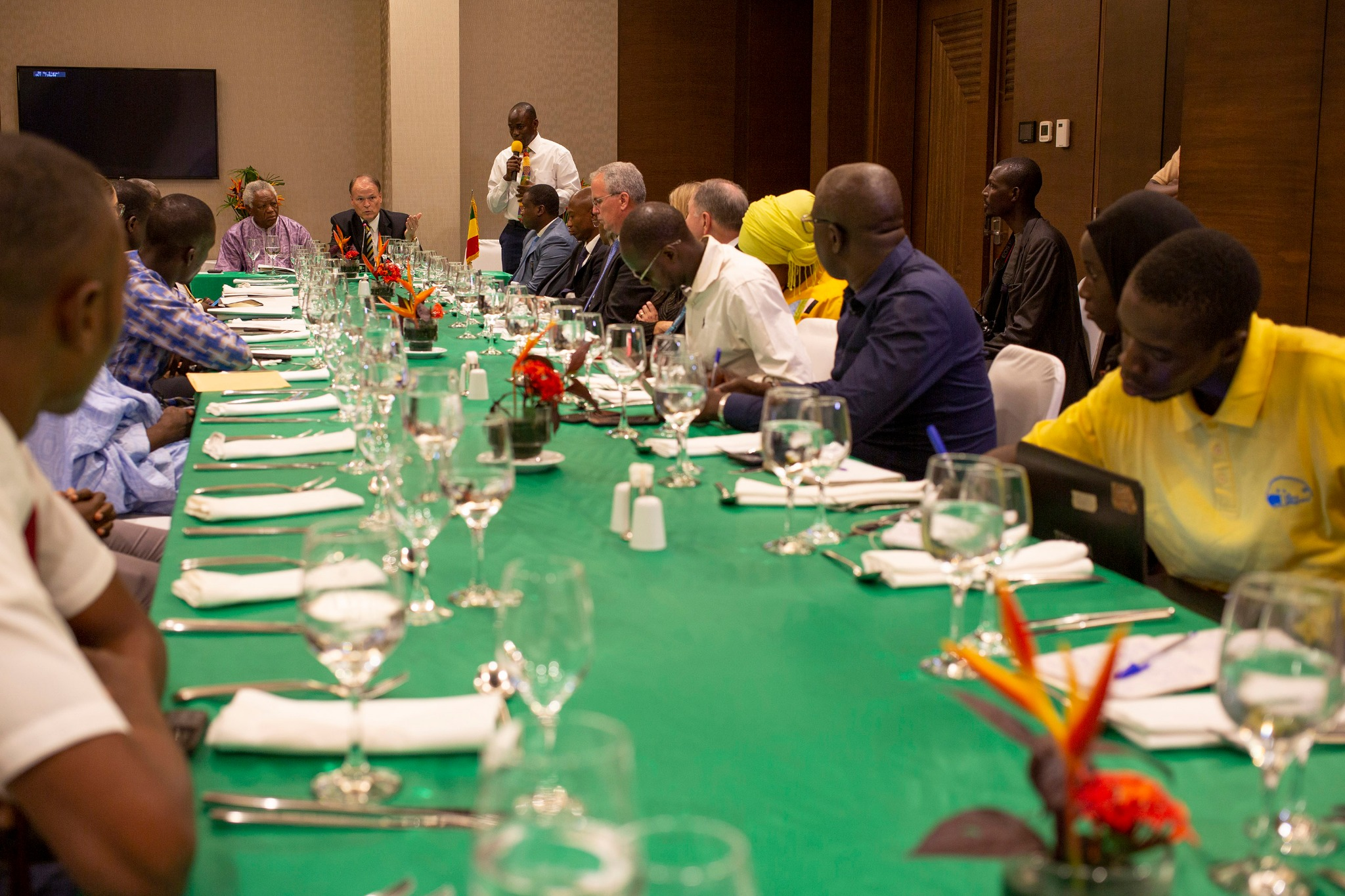 Religious and government leaders meet to discuss the official recognition of The Church of Jesus Christ of Latter-day Saints on Sept. 12, 2019, in Bamako, Mali.