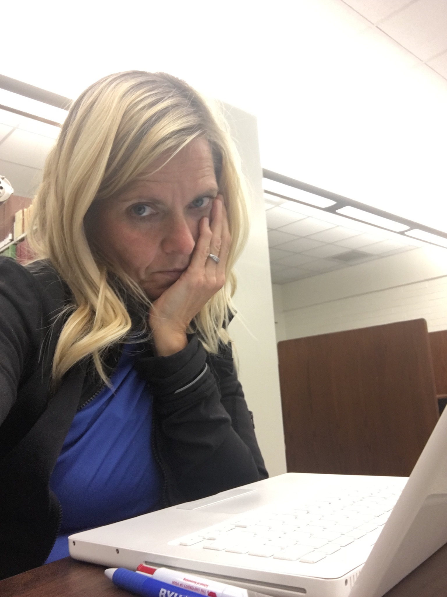 Rolayne Waldron takes a selfie while studying on campus at BYU-Idaho. Rolayne returned to school at BYU-Idaho after completing the PathwayConnect program.