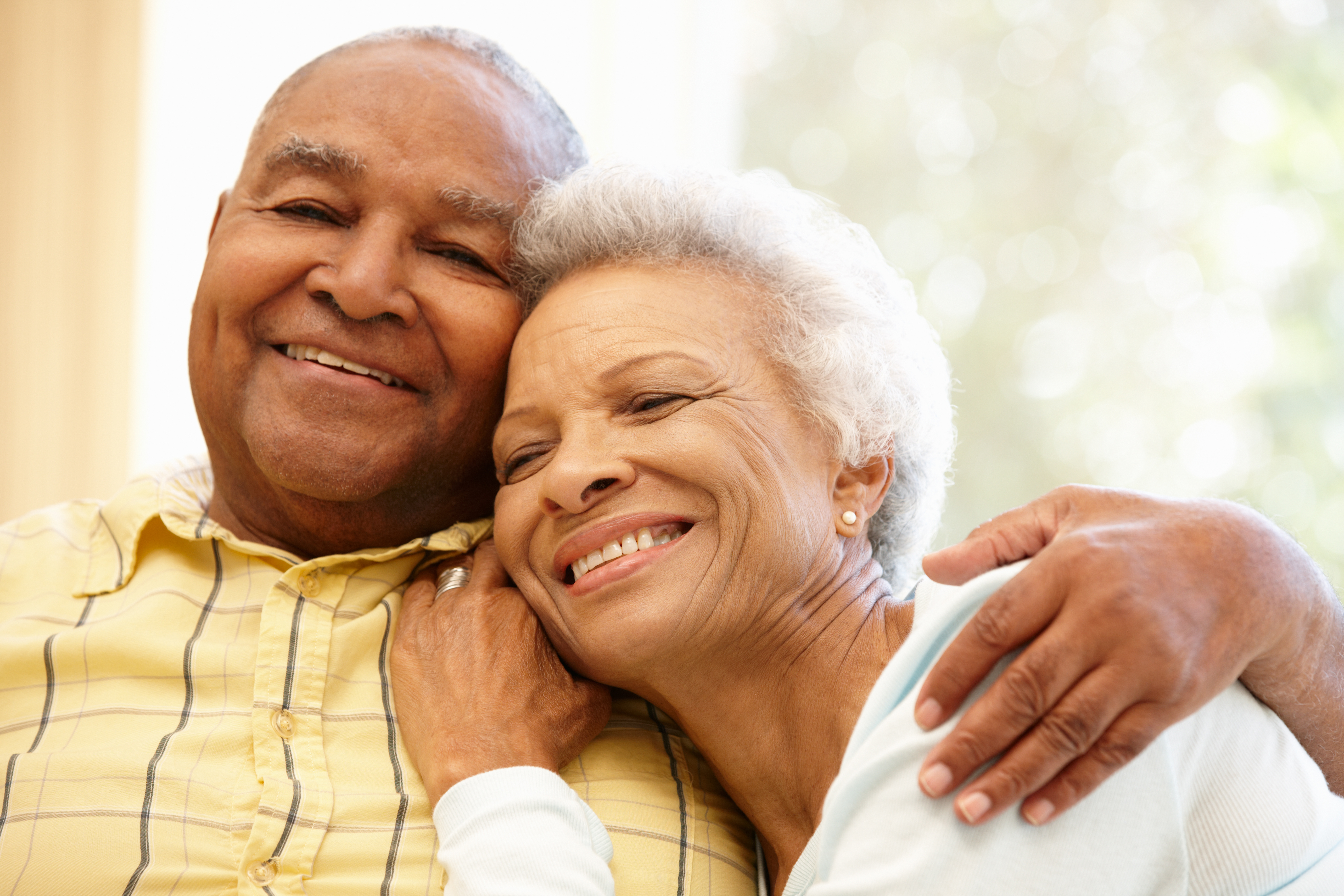 Two keys to happiness as individuals age is a good sense of humor and willingness to forgive.