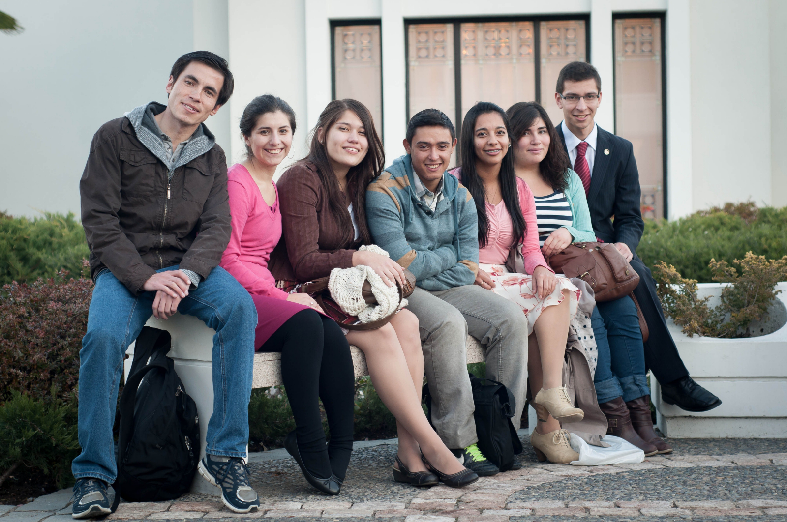 Youth from Chile participate in an Especially for Youth session.