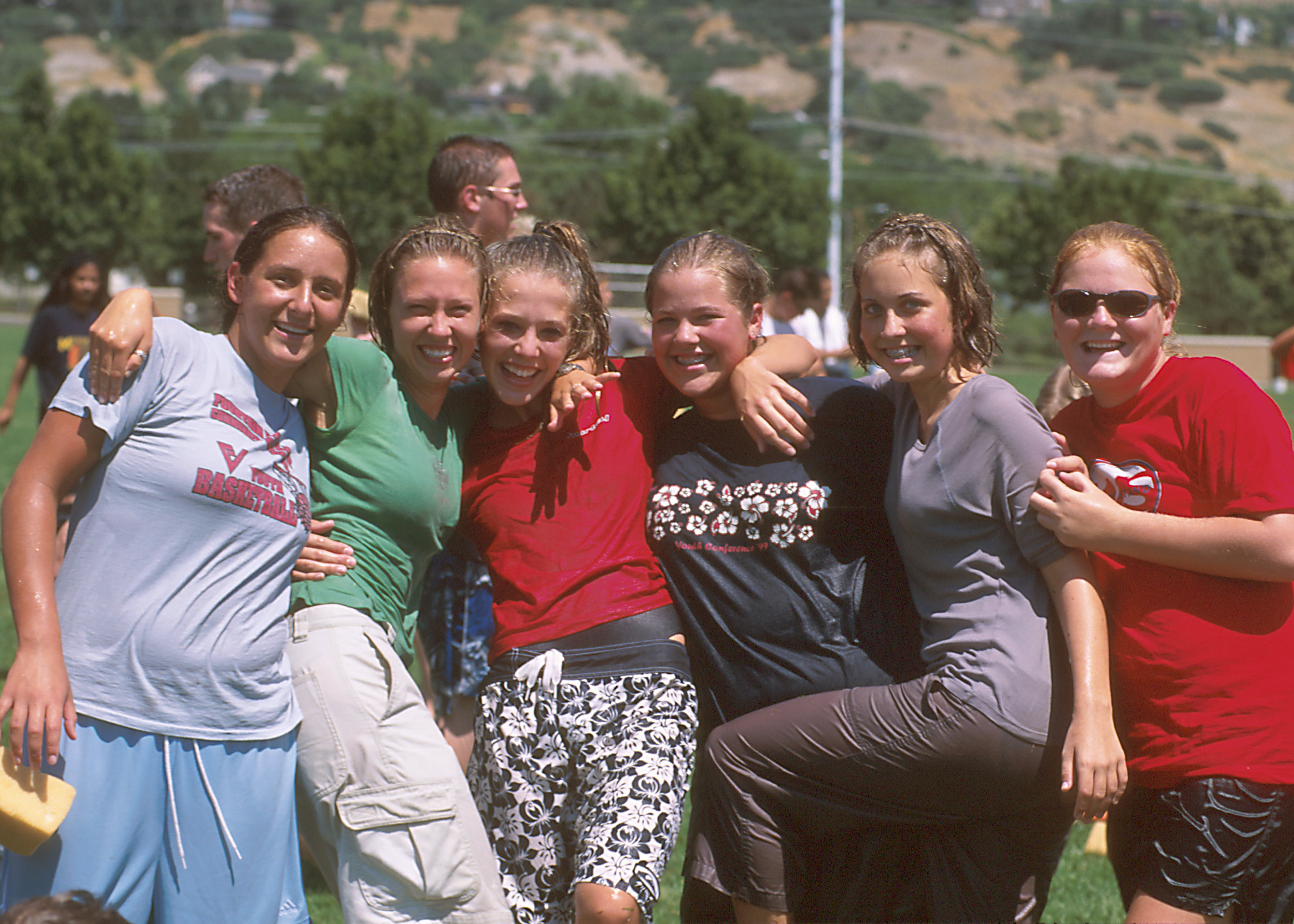 A group of young women have fun at Especially for Youth in 2000.