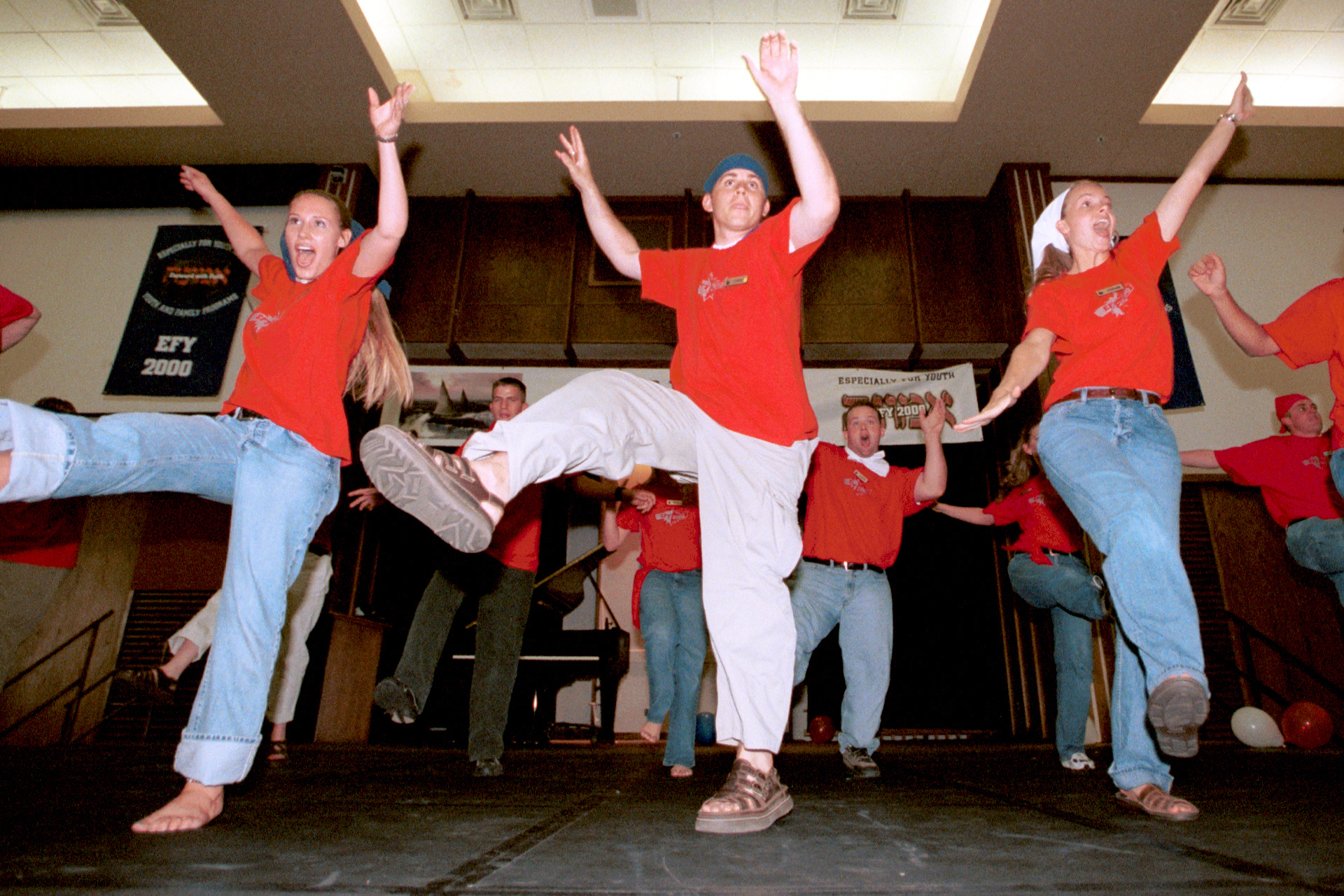 Young people dance during an activity at Especially for Youth in 2000.