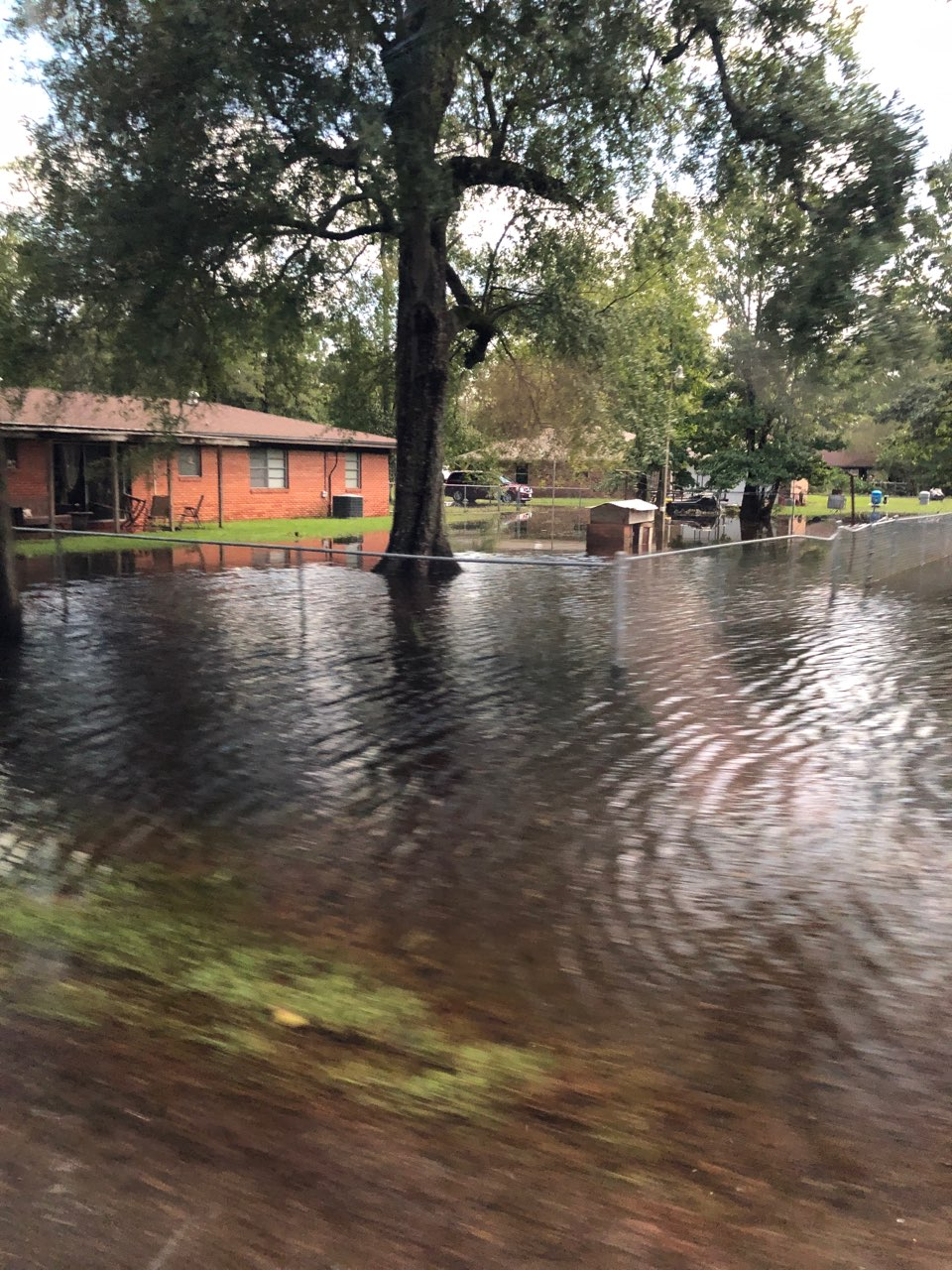 Homes in the greater Houston, Texas, area are flooded in the aftermath of Tropical Storm Imelda, which made landfall on Sept. 19, 2019.