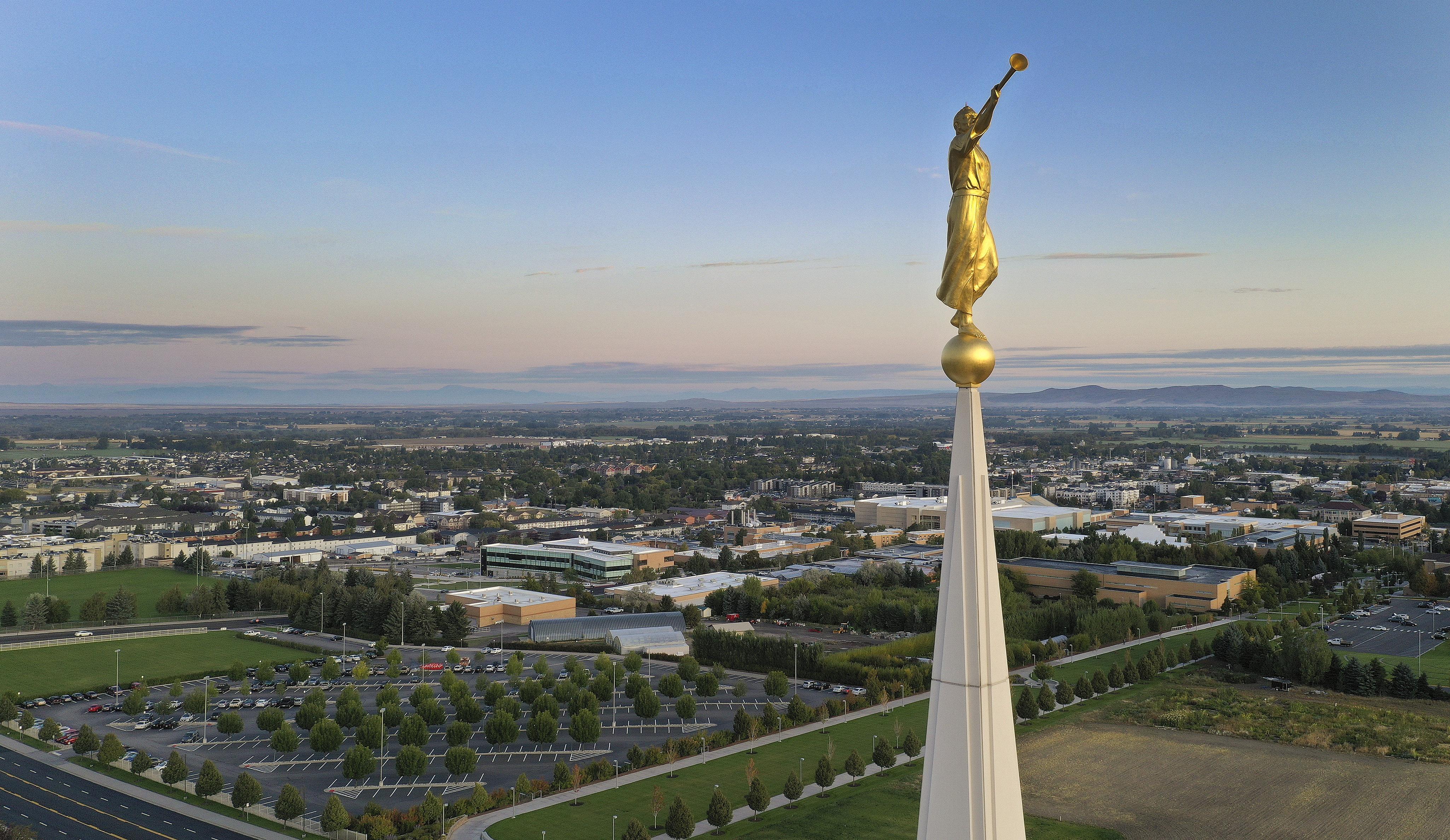 The BYU Idaho campus and the Rexburg Idaho Temple in Rexburg on Monday, Sept. 23, 2019.