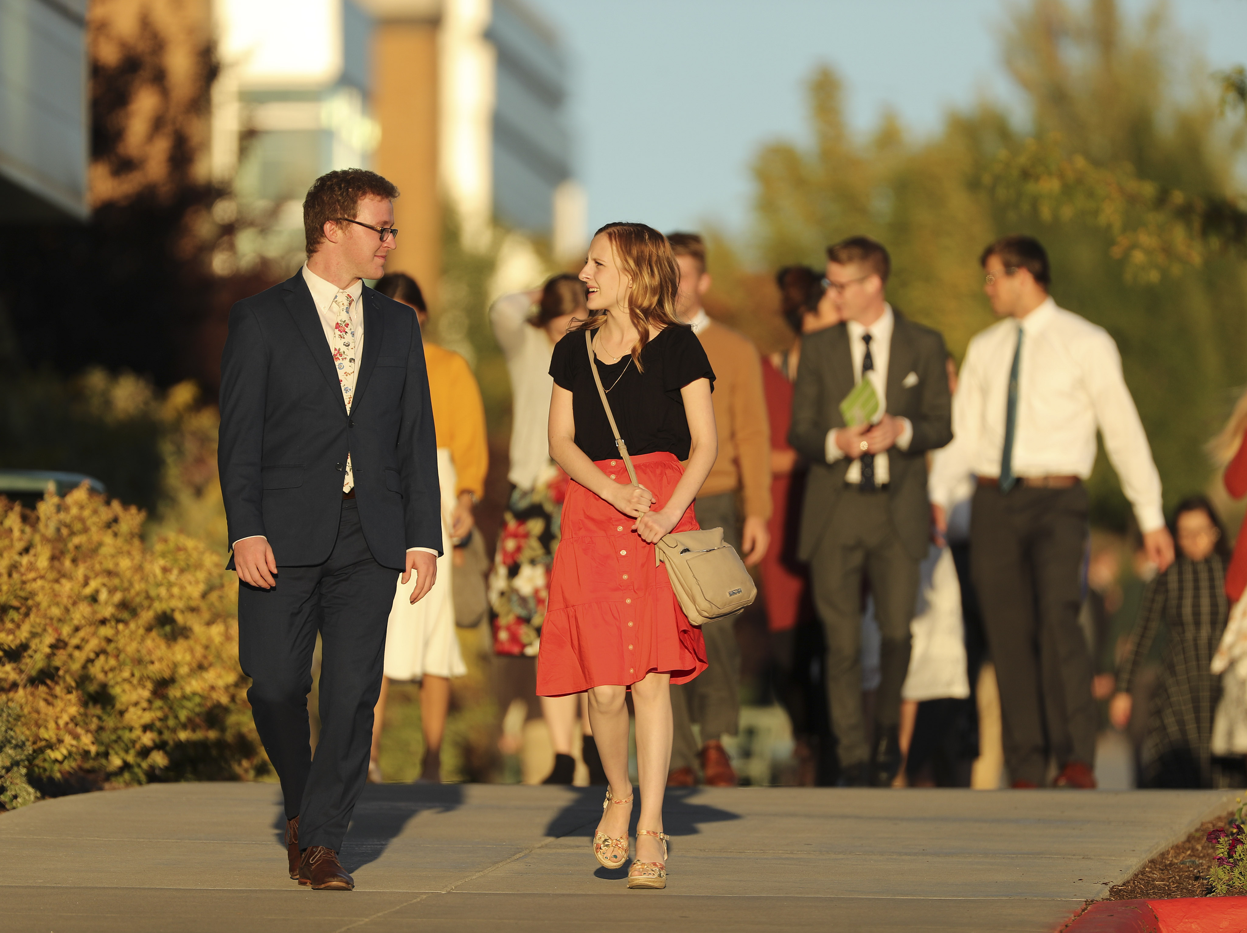 Students leave the BYU-Idaho Center after listening to Elder David A. Bednar, of the Quorum of the Twelve Apostles of The Church of Jesus Christ of Latter-day Saints, during a fireside at BYU Idaho in Rexburg on Sunday, Sept. 22, 2019.