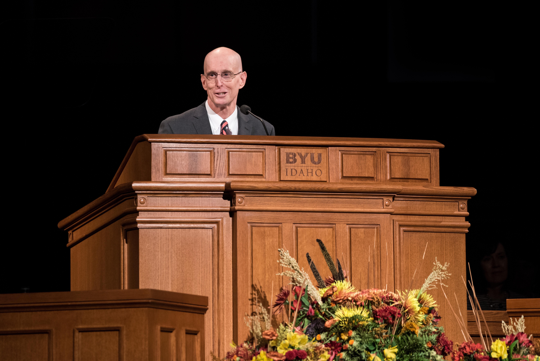 President Henry J. Eyring speaks at Devotional in the BYU-Idaho Center September 24, 2019.