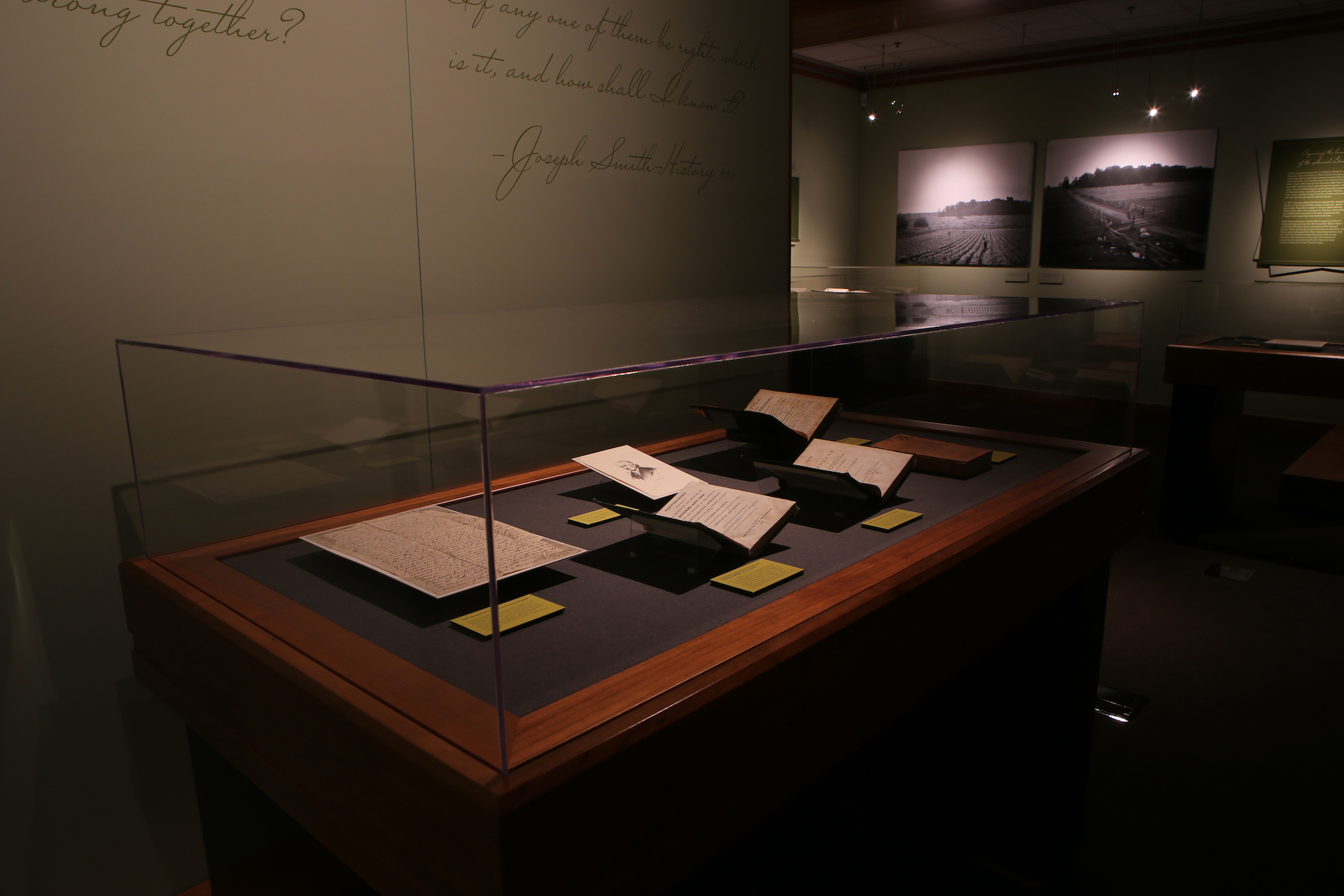 """The """"Pillar of Light"""" exhibition at BYU includes books, manuscripts, historic photos and contemporary media to tell the essential story of Joseph Smith's First Vision in 1820."""