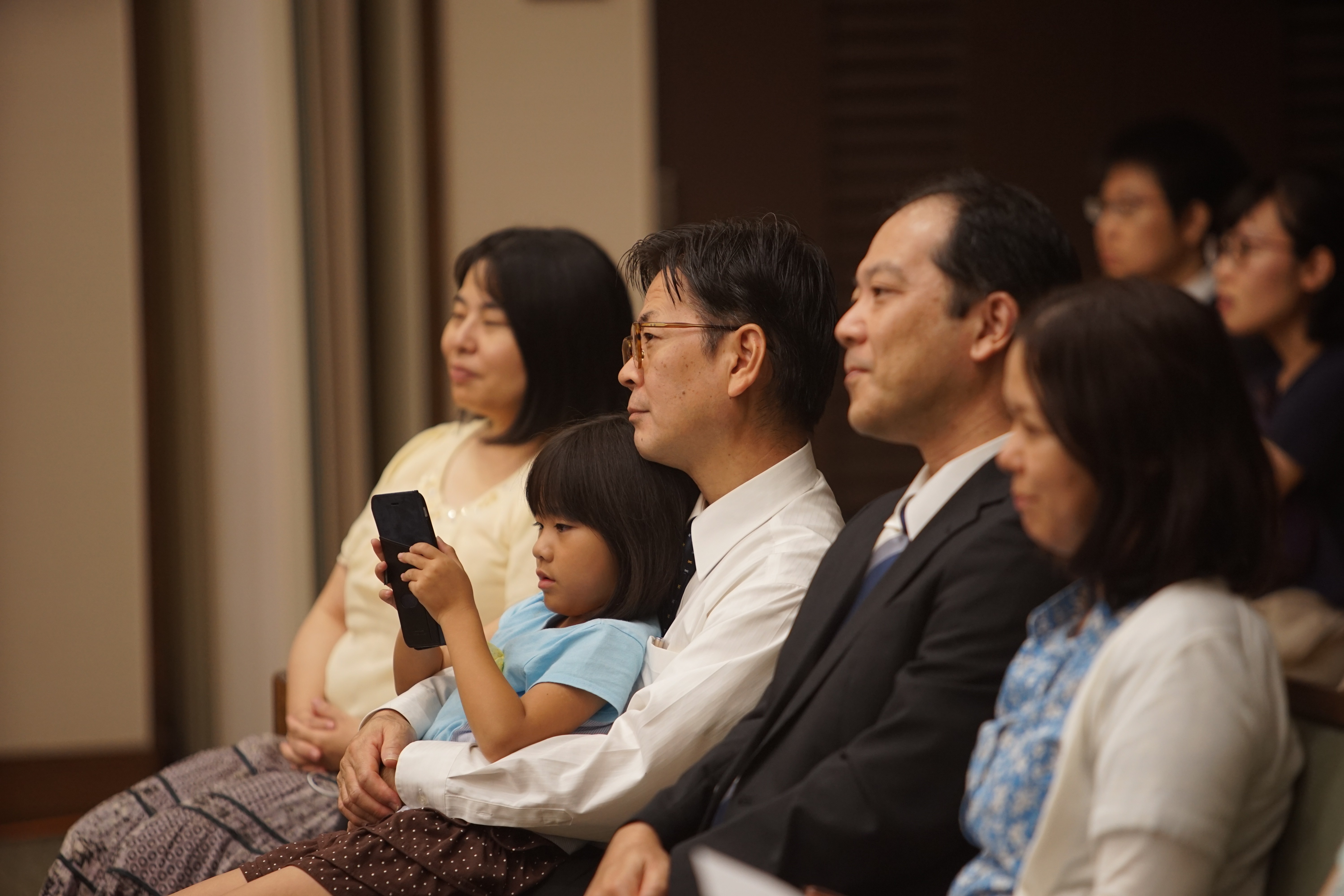 Members gather for a devotional with Elder Ulisses Soares in Sapporo, Japan, on Aug. 30, 2019.