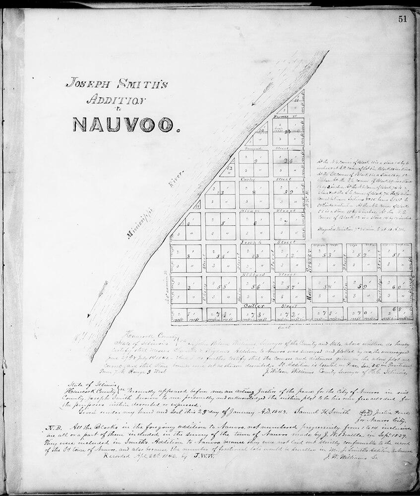 "An 1842 plat map of Nauvoo is one of the featured documents in the newest Joseph Smith Papers volume, ""Documents, Vol. 9."""