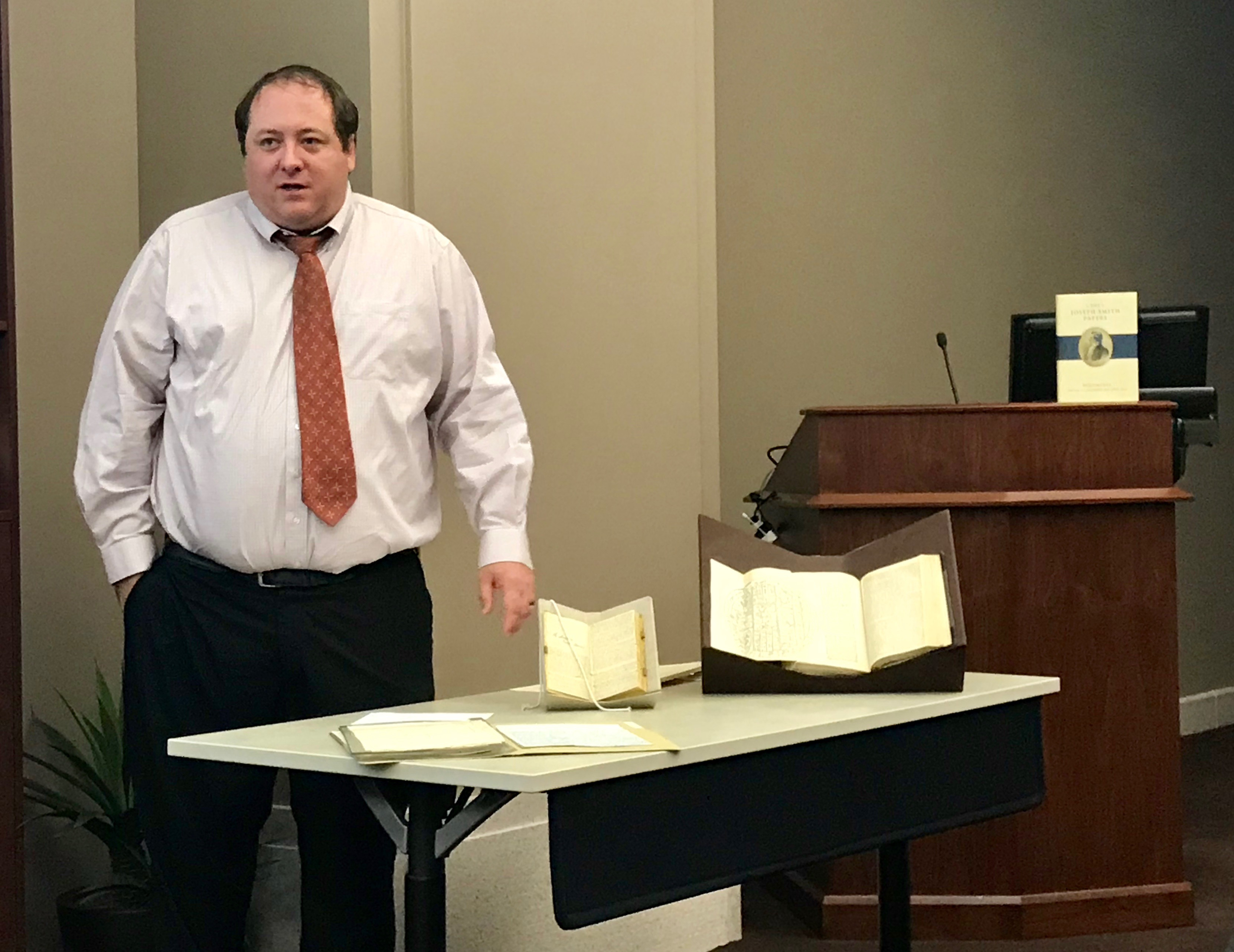 "Christopher J. Blythe, one of the editors who worked on ""Documents, Vol. 9: December 1841-April 1842,"" speaks to reporters and bloggers about some of the documents in the new volume."