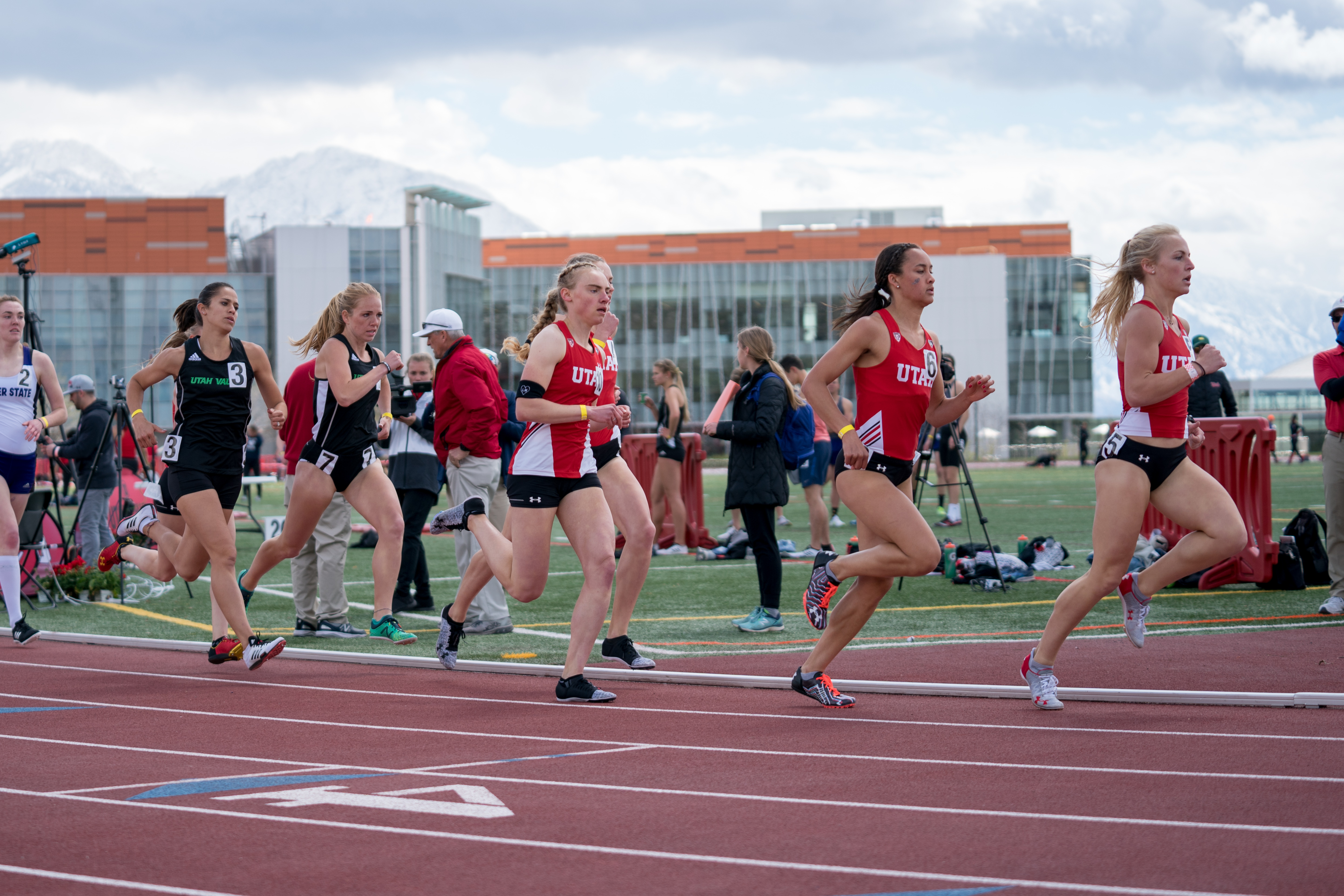 Sarah Feeny competes in the Utah Track and Field Spring Classic April 13, 2019, in Salt Lake City, UT.