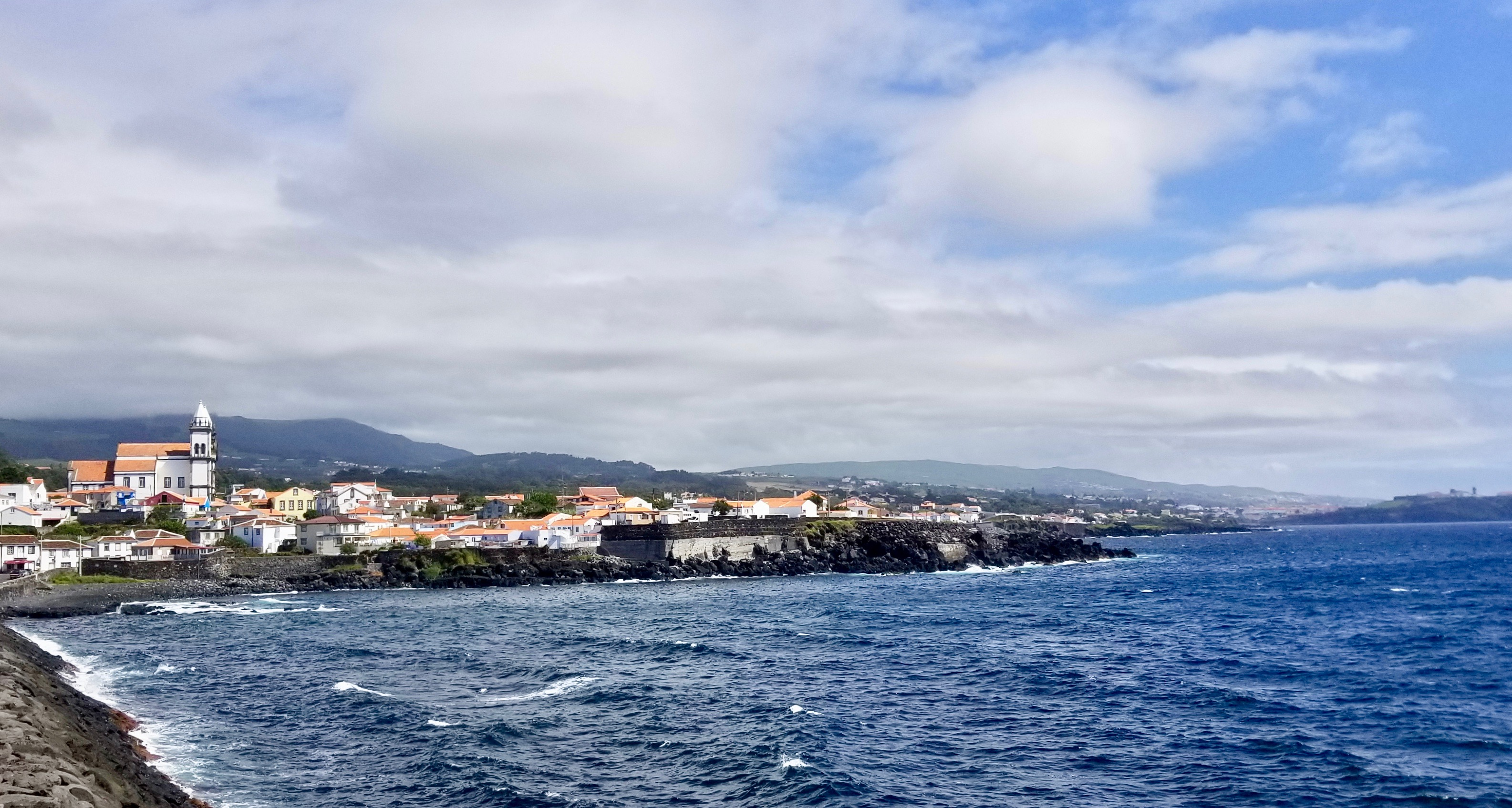 São Mateus da Calheta, a western parish of the municipality of Angra do Heroísmo, as seen on Sept. 16, 2019, on the southern coast of Terceira Island in the Portuguese archipelago of the Azores.