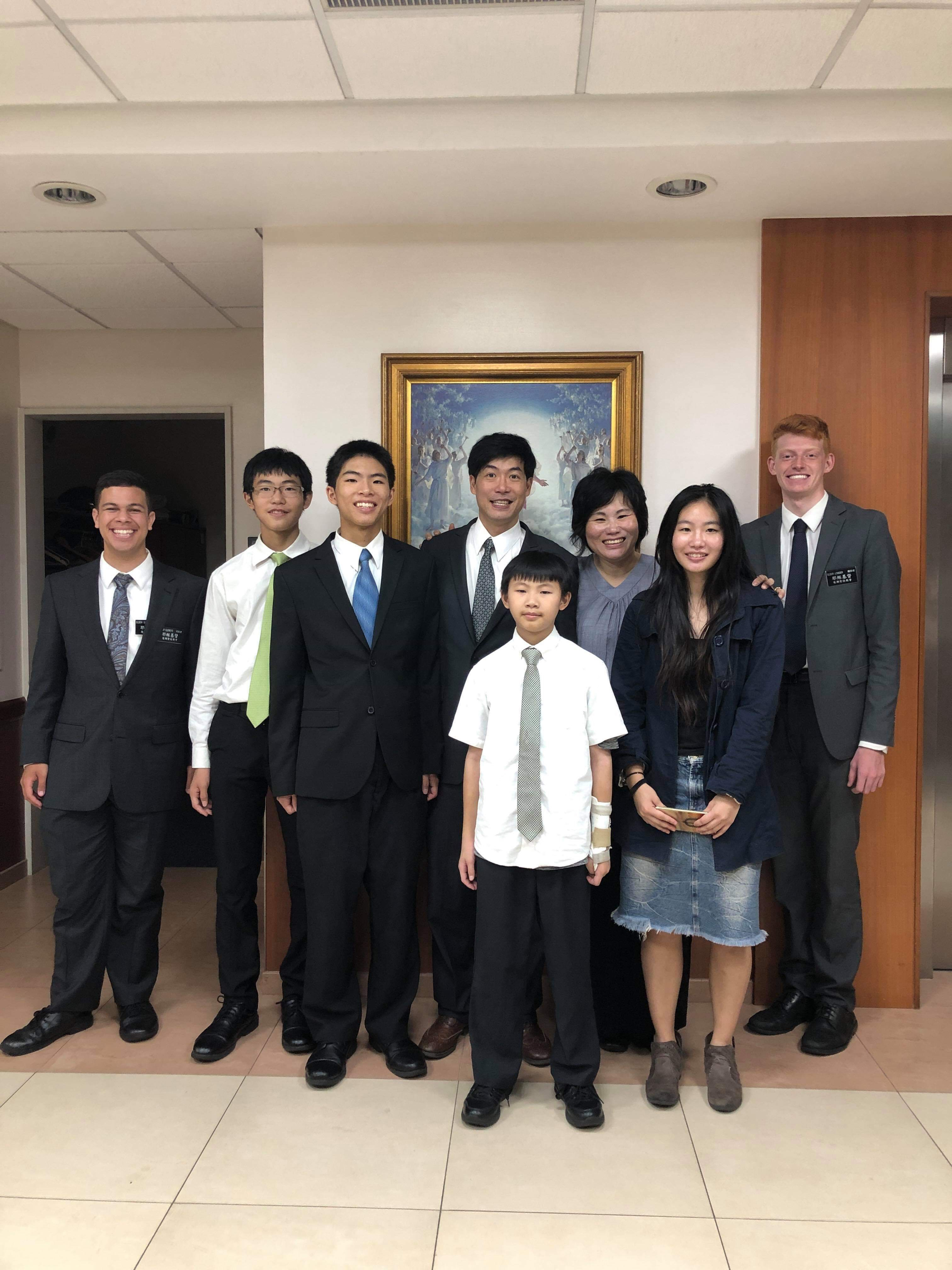 The Jacob Ong family in Taiwan.