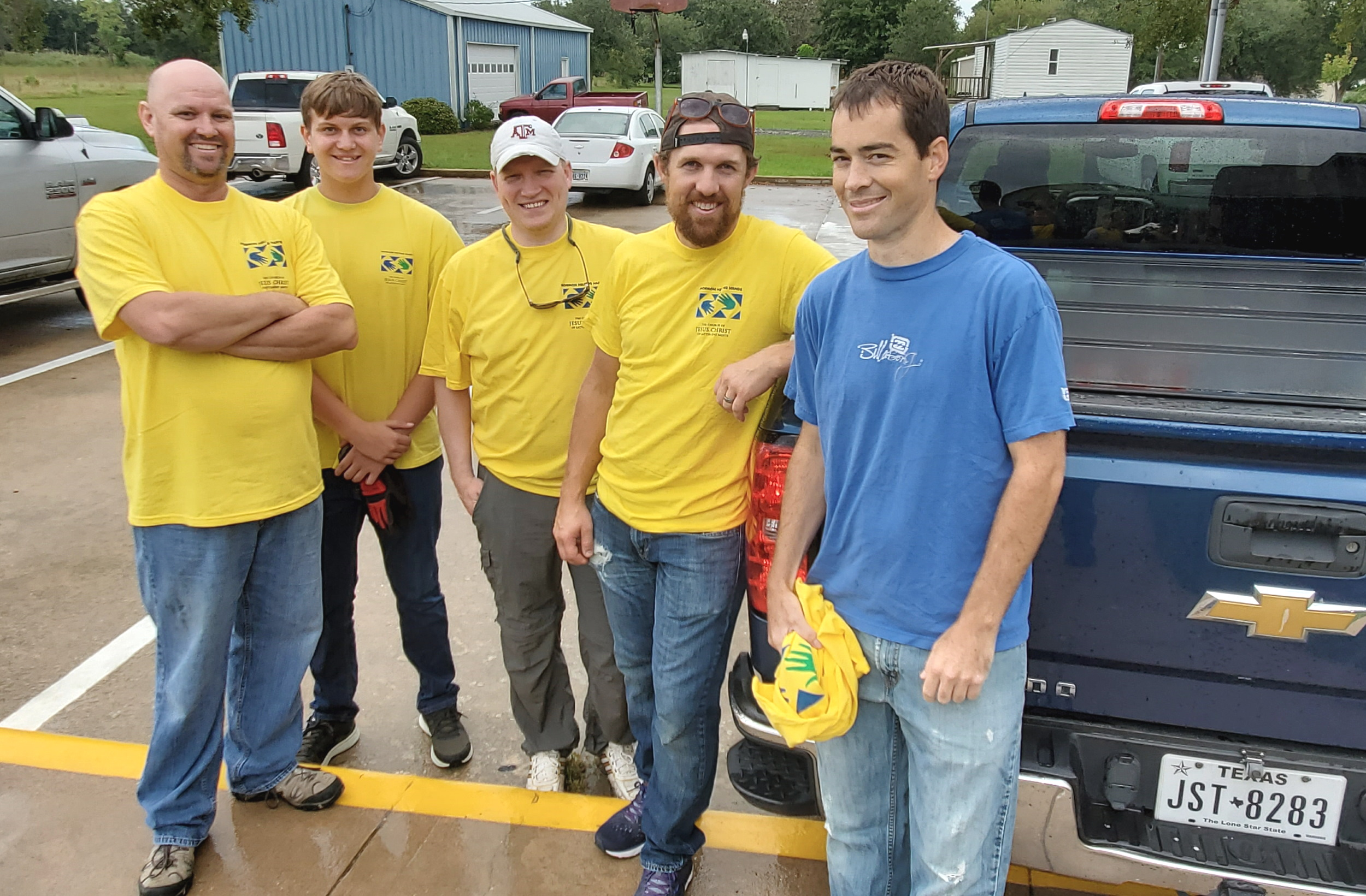 A fresh work crew ready, willing and able to help some of the many families in need.