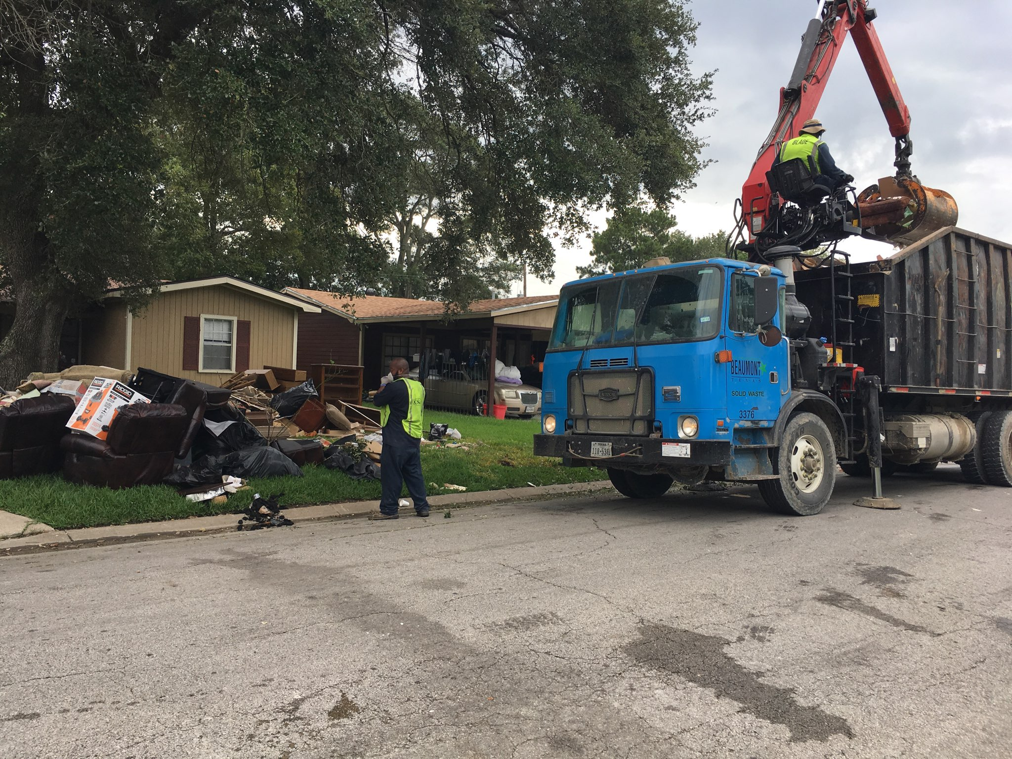 The City of Beaumont will work for weeks to remove the piles of debris taken from flooded homes.
