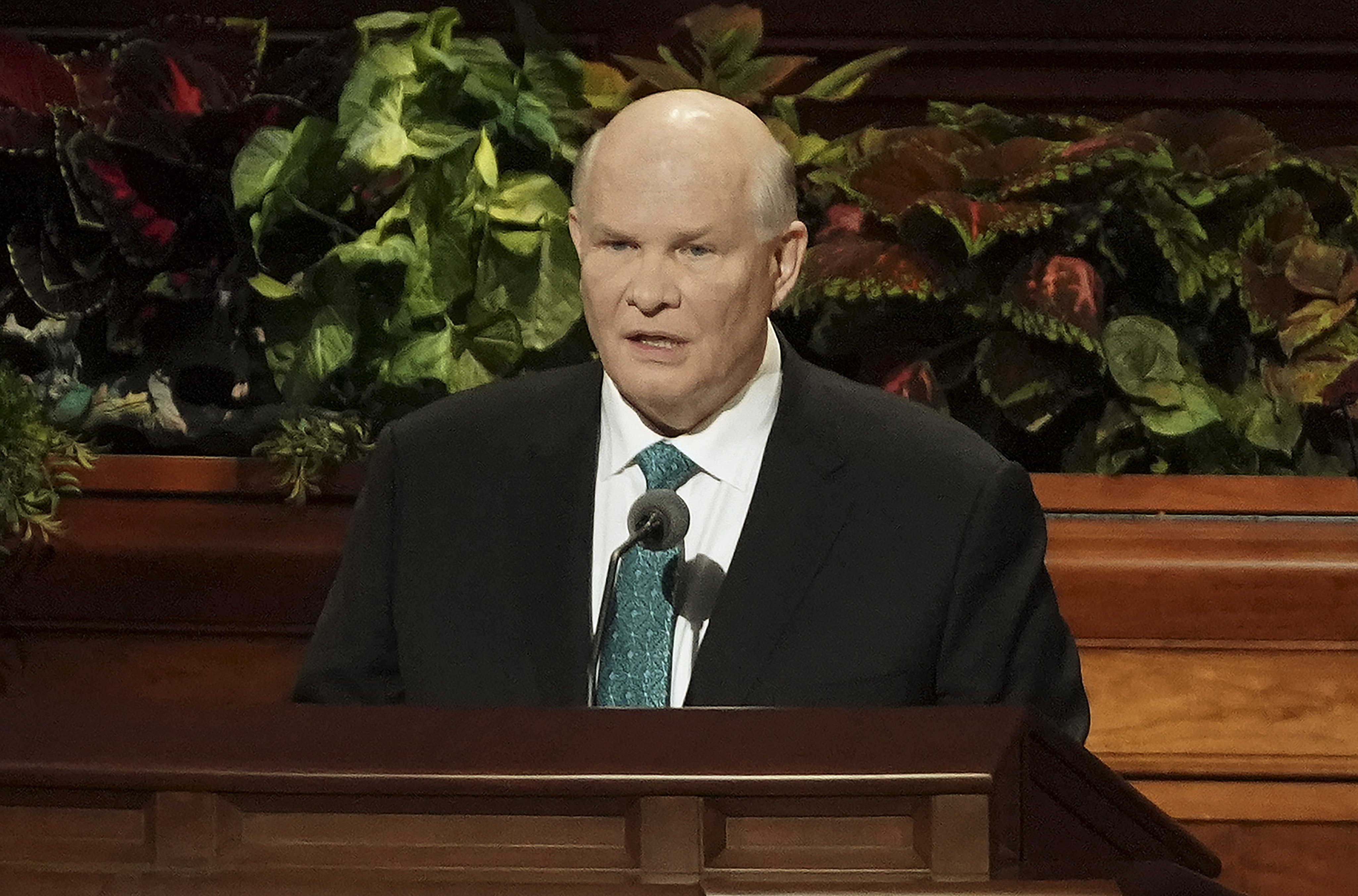 Elder Dale G. Renlund of The Church of Jesus Christ of Latter-day Saints' Quorum of the Twelve Apostles speaks during the Saturday morning session of the 189th Semiannual General Conference of The Church of Jesus Christ of Latter-day Saints in the Conference Center in Salt Lake City on Saturday, Oct. 5, 2019.