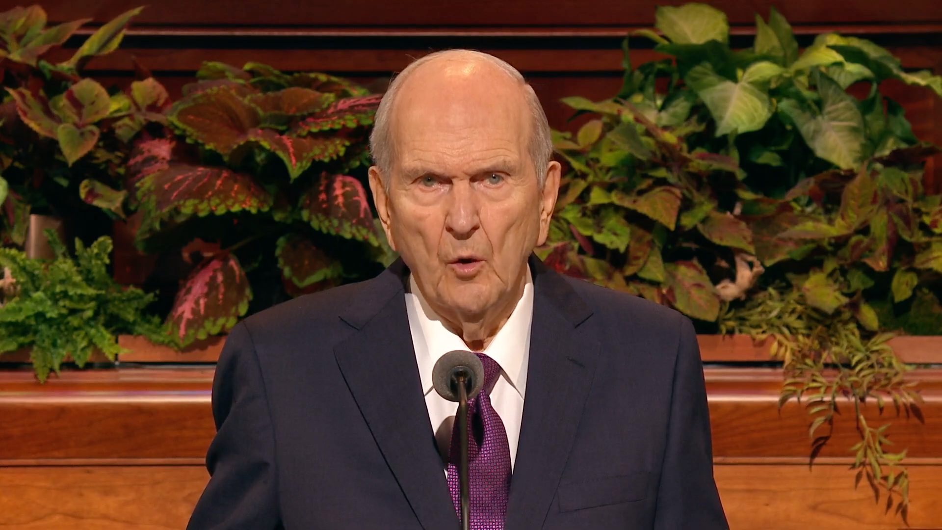 President Russell M. Nelson, president of the Church, speaks during the Saturday afternoon session in the 189th Semiannual General Conference of the Church on Oct. 5, 2019.