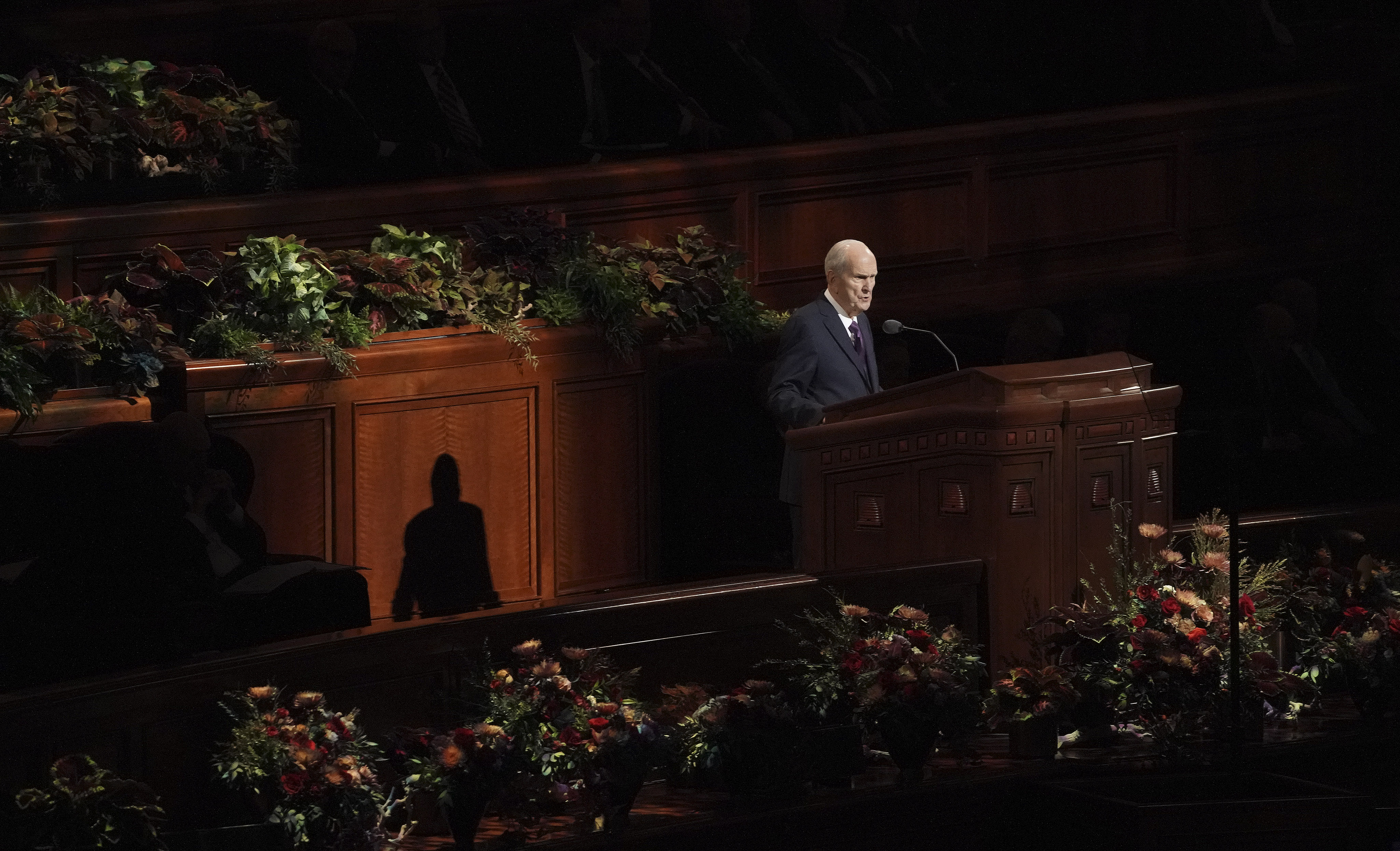 President Russell M. Nelson speaks during the Saturday afternoon session of the 189th Semiannual General Conference of The Church of Jesus Christ of Latter-day Saints in the Conference Center in Salt Lake City on Saturday, Oct. 5, 2019.