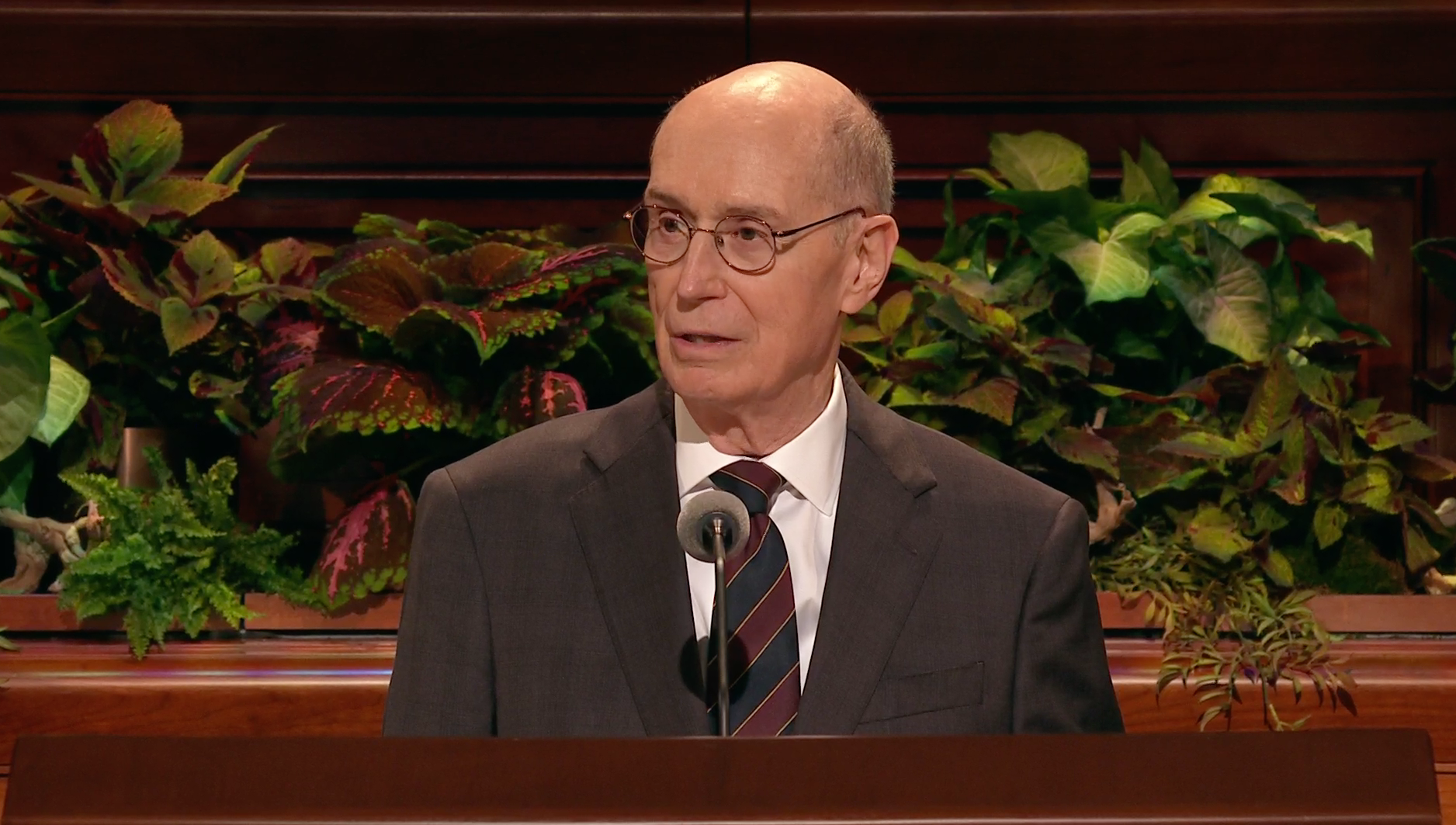 President Henry B. Eyring, second counselor in the First Presidency, speaks during the general women's session in the 189th Semiannual General Conference of the Church on Oct. 5, 2019.