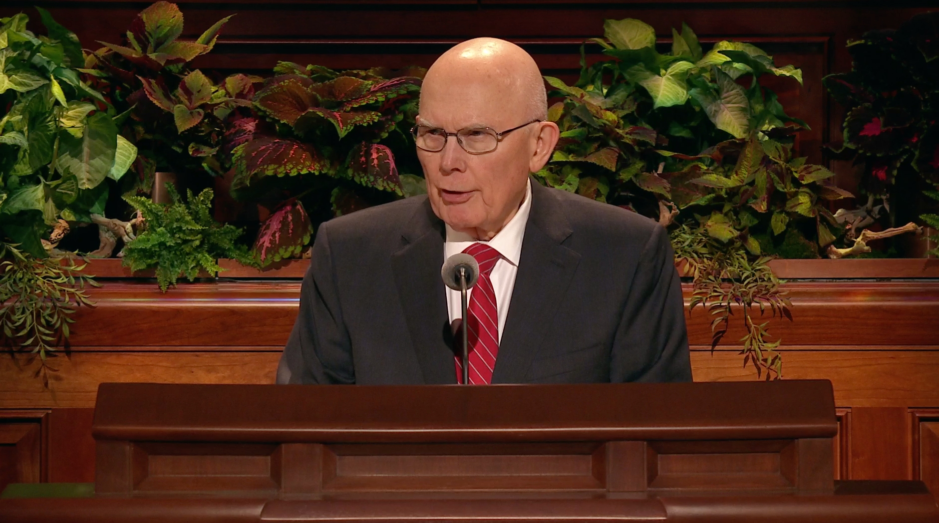 President Dallin H. Oaks, first counselor in the First Presidency, speaks during the general women's session in the 189th Semiannual General Conference of the Church on Oct. 5, 2019.