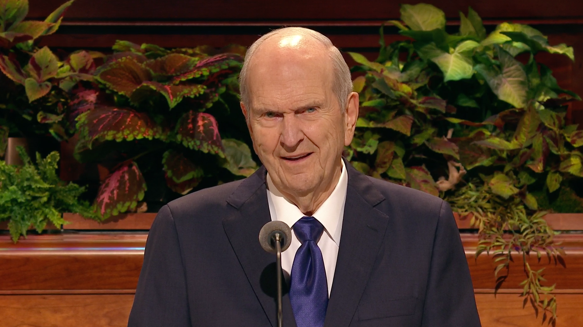 President Russell M. Nelson, president of the Church, speaks during the general women's session in the 189th Semiannual General Conference of the Church on Oct. 5, 2019.