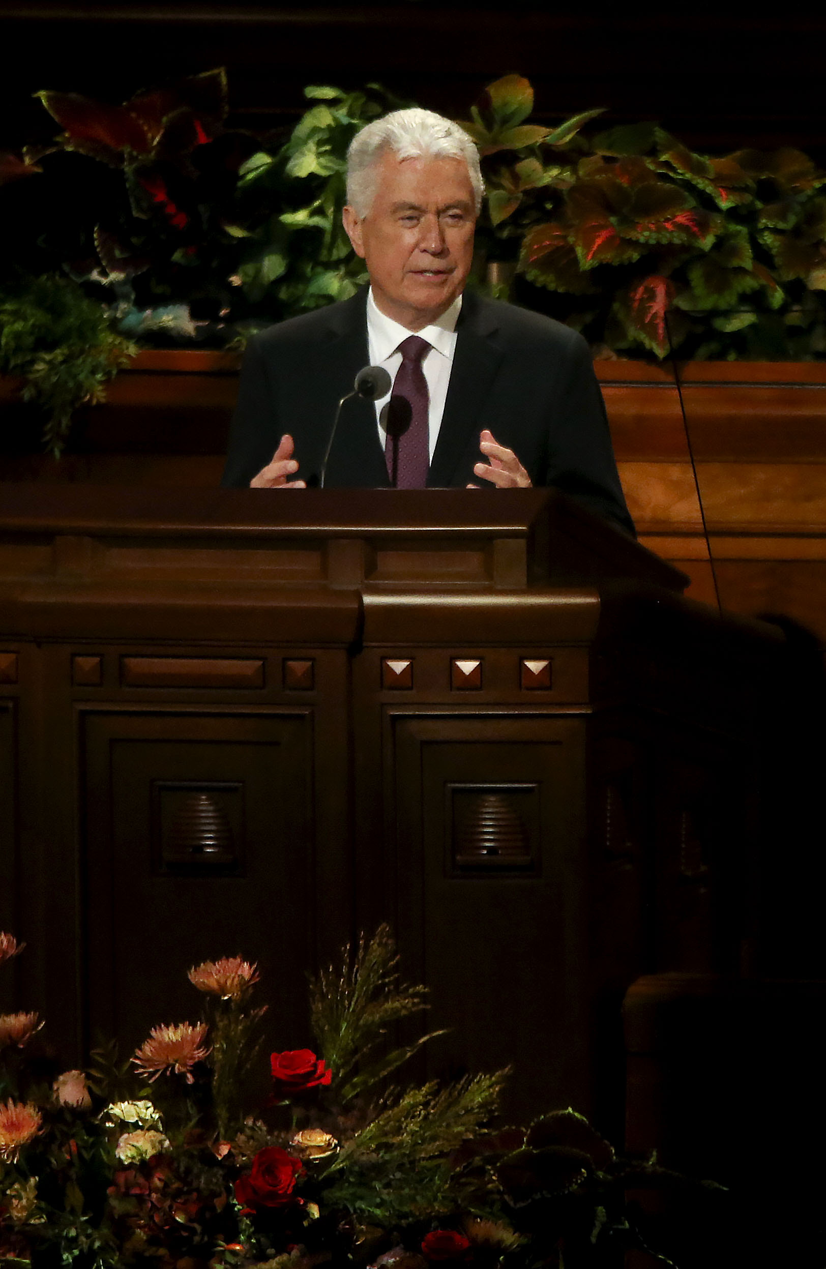 Elder Dieter F. Uchtdorf of the Quorum of the Twelve Apostles speaks during the Sunday morning session of the 189th Semiannual General Conference of The Church of Jesus Christ of Latter-day Saints in the Conference Center in Salt Lake City on Sunday, Oct. 6, 2019.