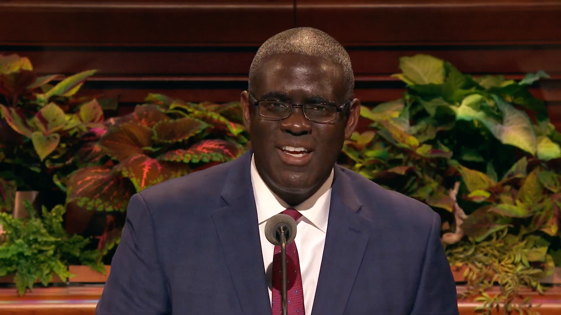 Elder Peter M. Johnson, a General Authority Seventy, speaks during the Sunday afternoon session in the 189th Semiannual General Conference of the Church on Sunday, Oct. 6, 2019.