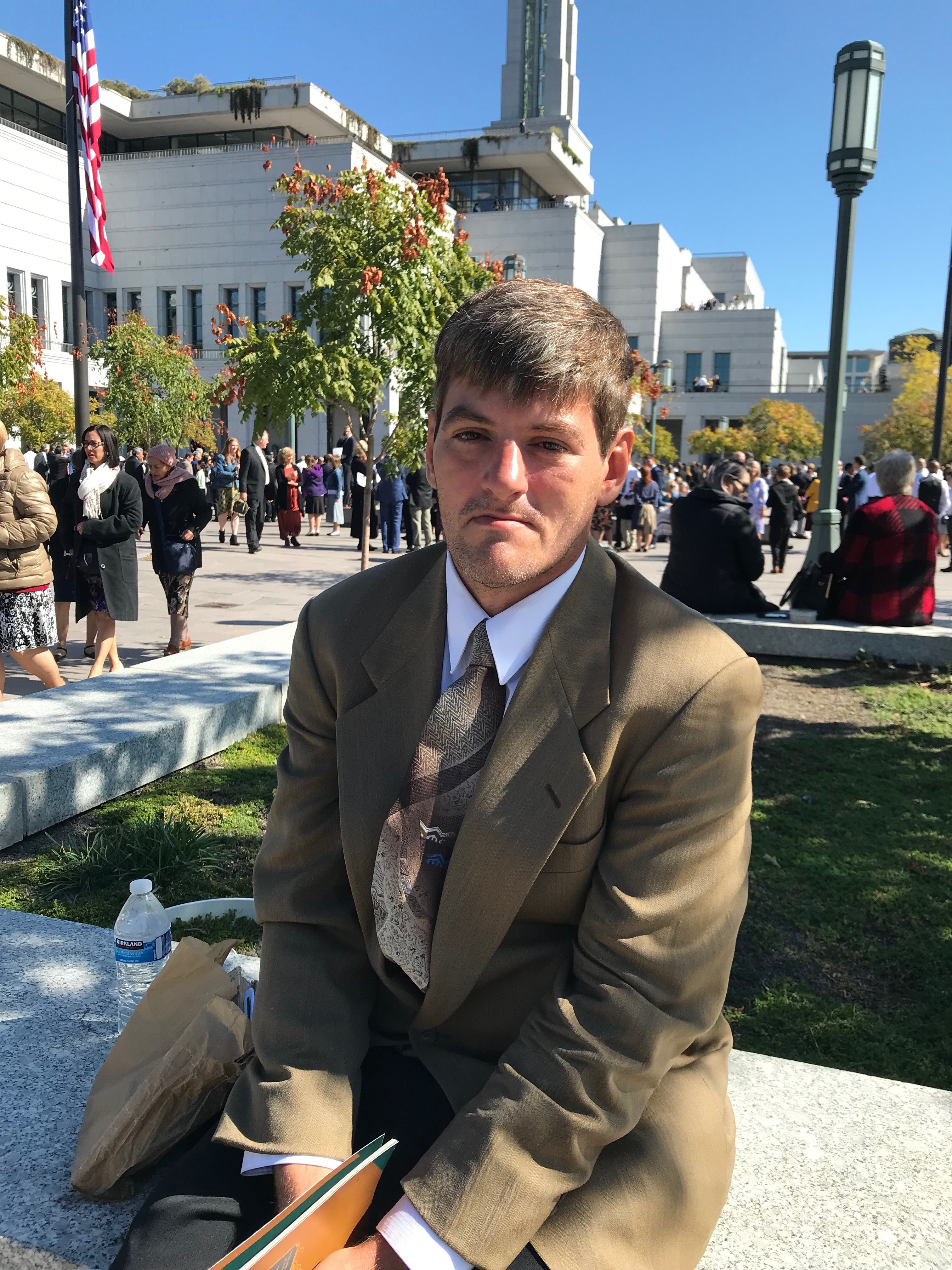 Scott Robinson, from Mississippi, was baptized three years ago and attended general conference for the first time Oct. 5, 2019.