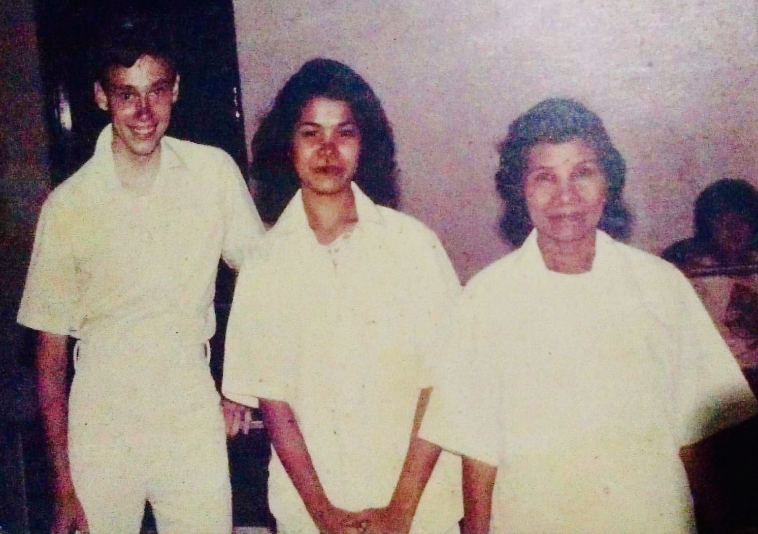 Cora Jardeleza, center, and her mother, Concepcion Jardeleza, are joined by Elder Keith Eager, left, at the Jardelezas' baptism in Bacolod, Philippines, in 1980.