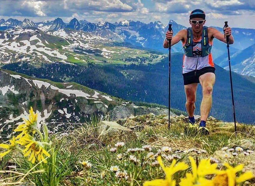 Ultramarathoner Michael McKnight treks along mountain trails while training to run a series of three 200-mile races.