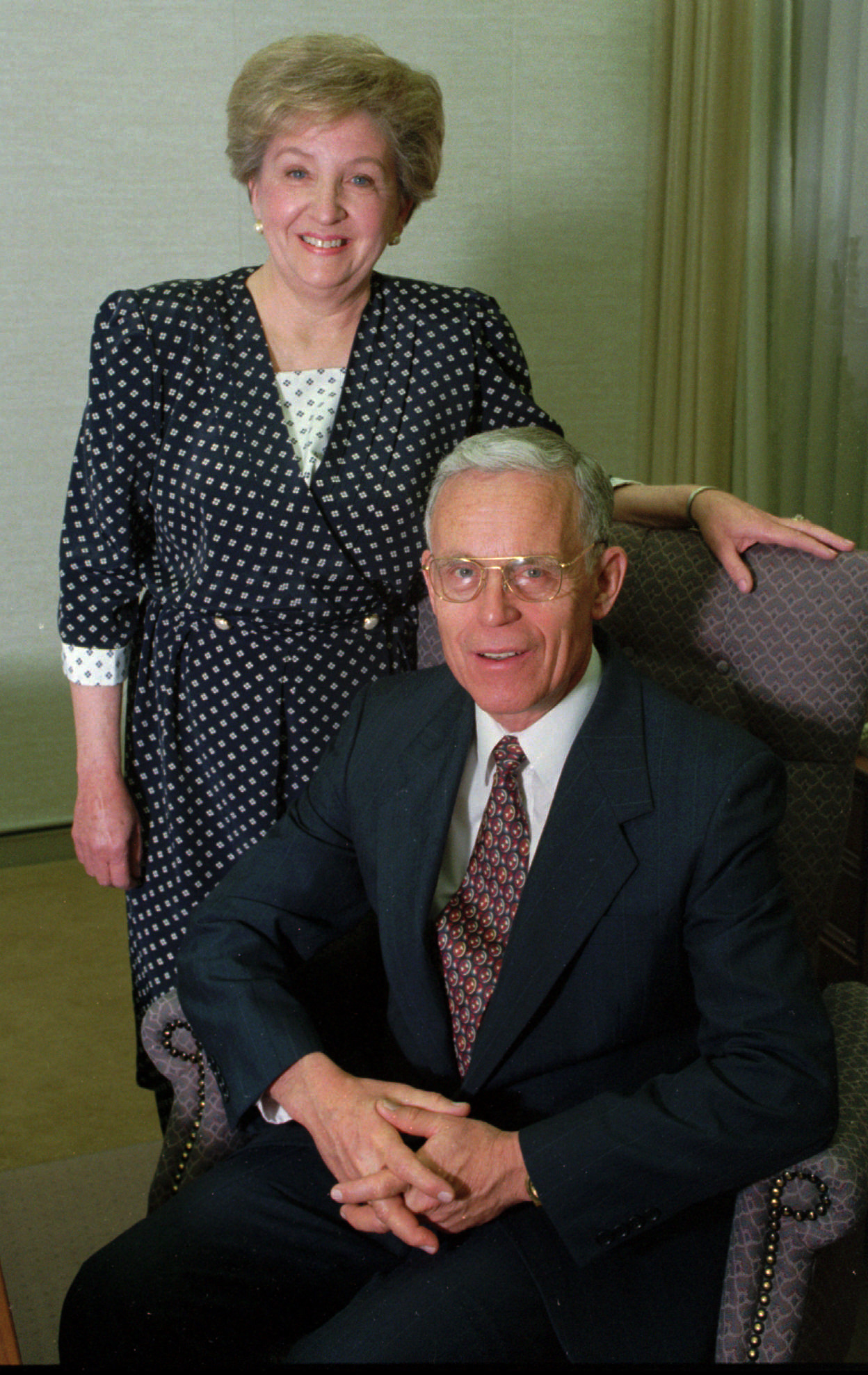 Elder James O. Mason with his wife, Sister Marie Mason, in 1994.