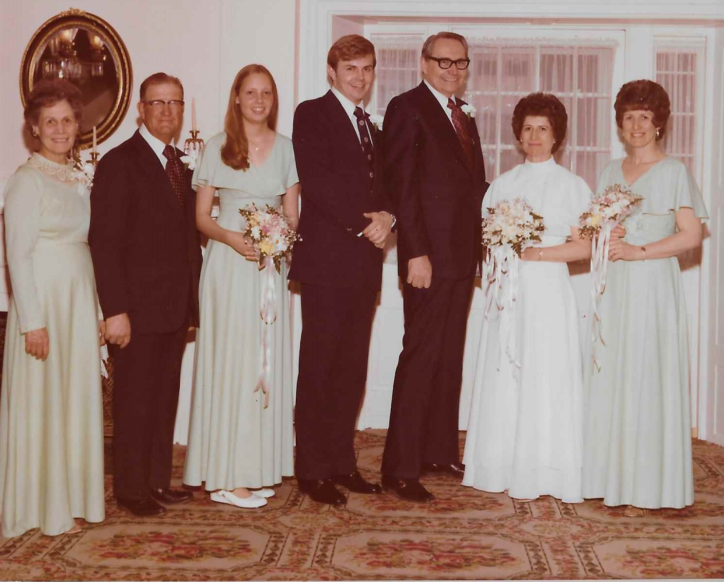 Elder L. Tom Perry and his new bride, Sister Barbara Taylor Perry, stand in the reception line following their April 28, 1976, wedding.