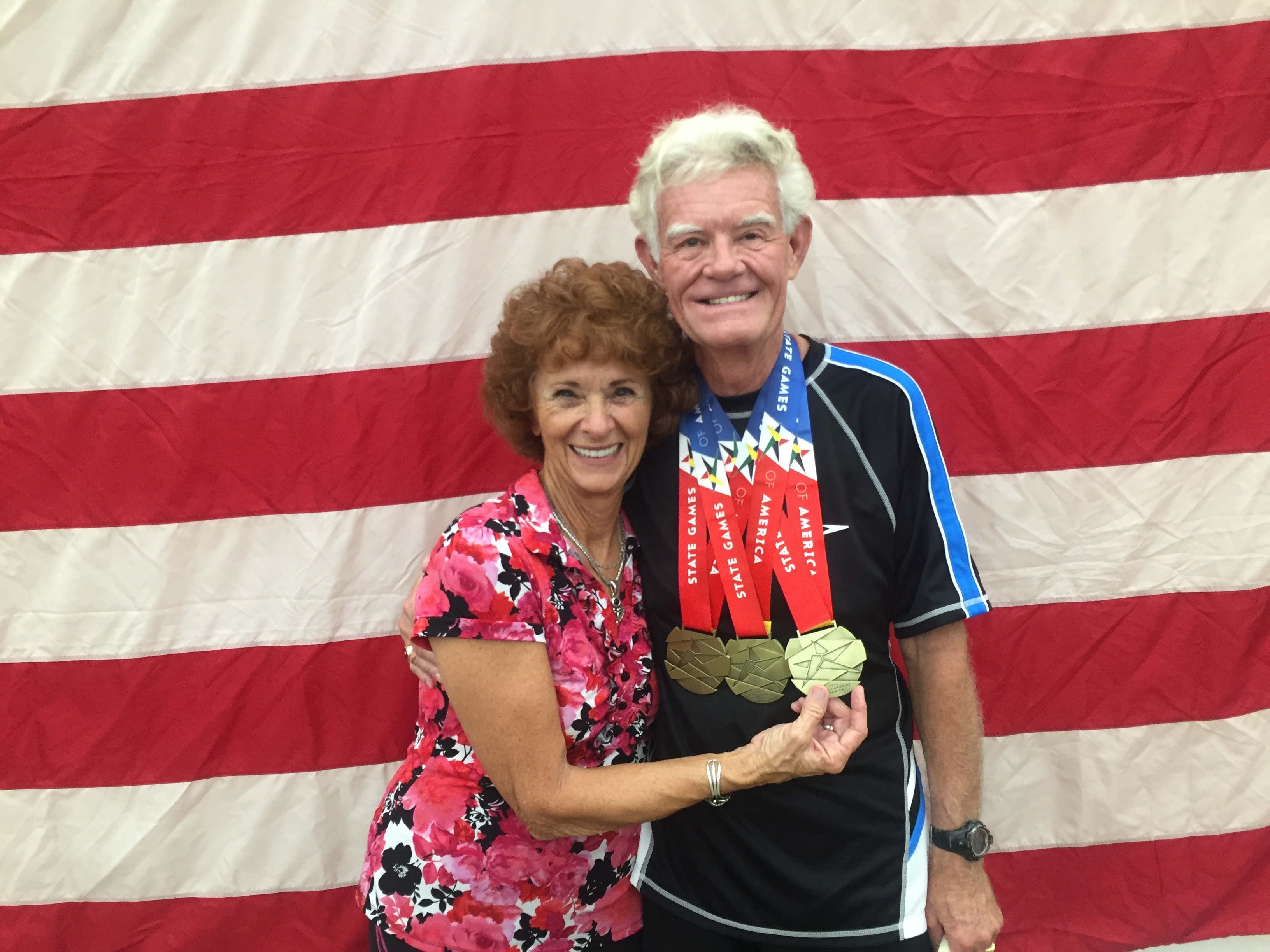 Dick and Lawana Johnson at a pickleball competition.