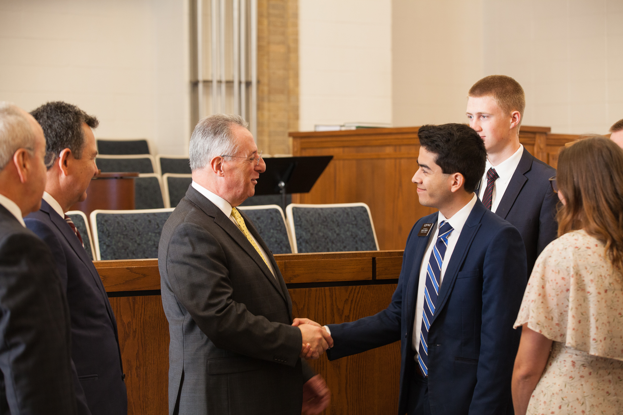 Elder Ulisses Soares of the Quorum of the Twelve Apostles meets with and encourages the Church's missionaries serving in Austin, Texas, on Friday, October 18, 2019.