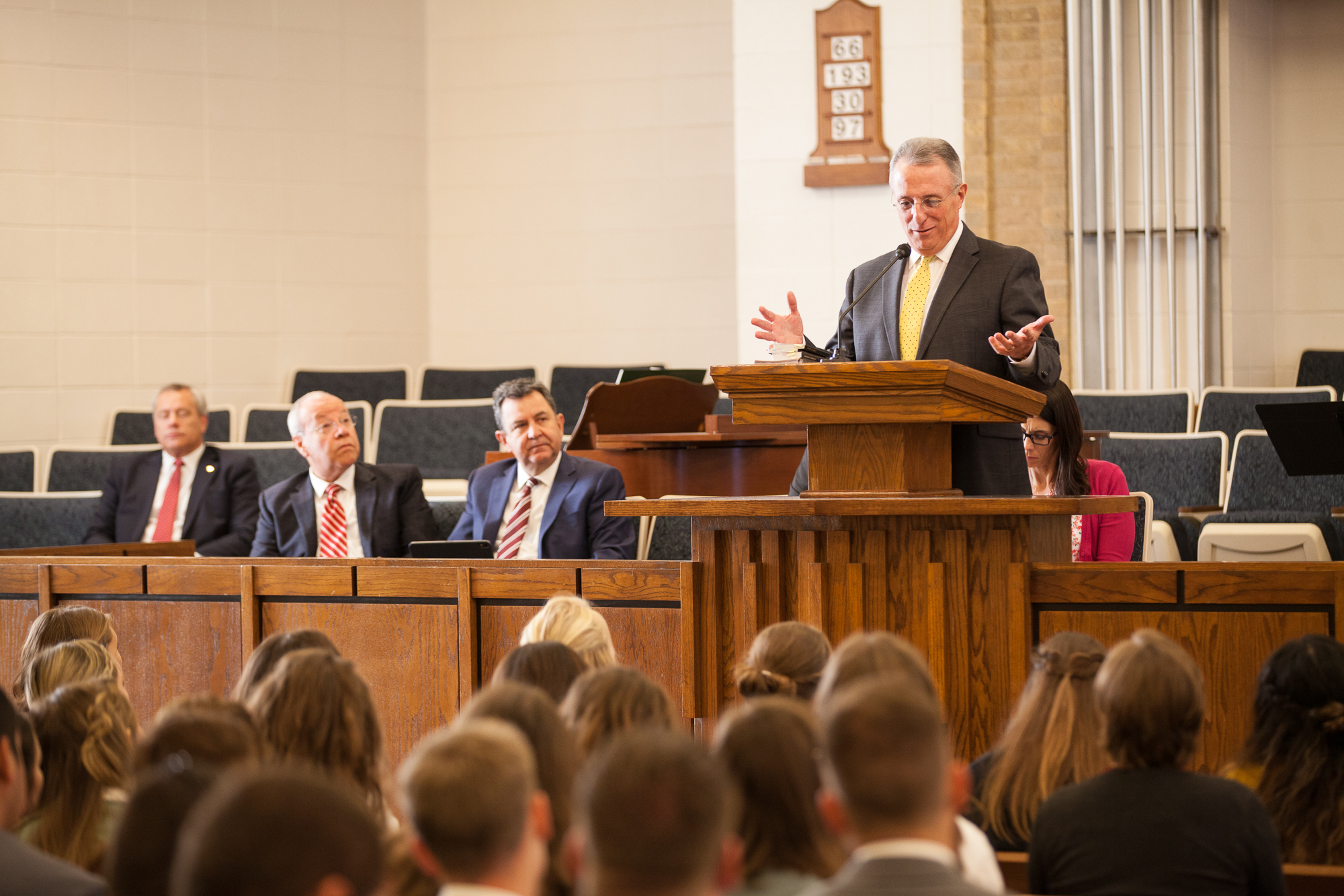 Words of faith and love are expressed by Elder Ulisses Soares of the Quorum of the Twelve Apostles to Austin, Texas, missionaries on Friday, October 18, 2019.
