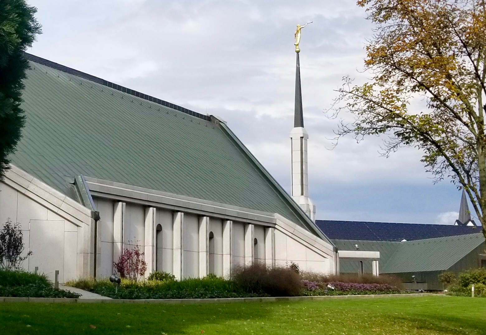The Frankfurt Germany Temple on Sunday, Oct. 20, 2019, the day of its rededication.