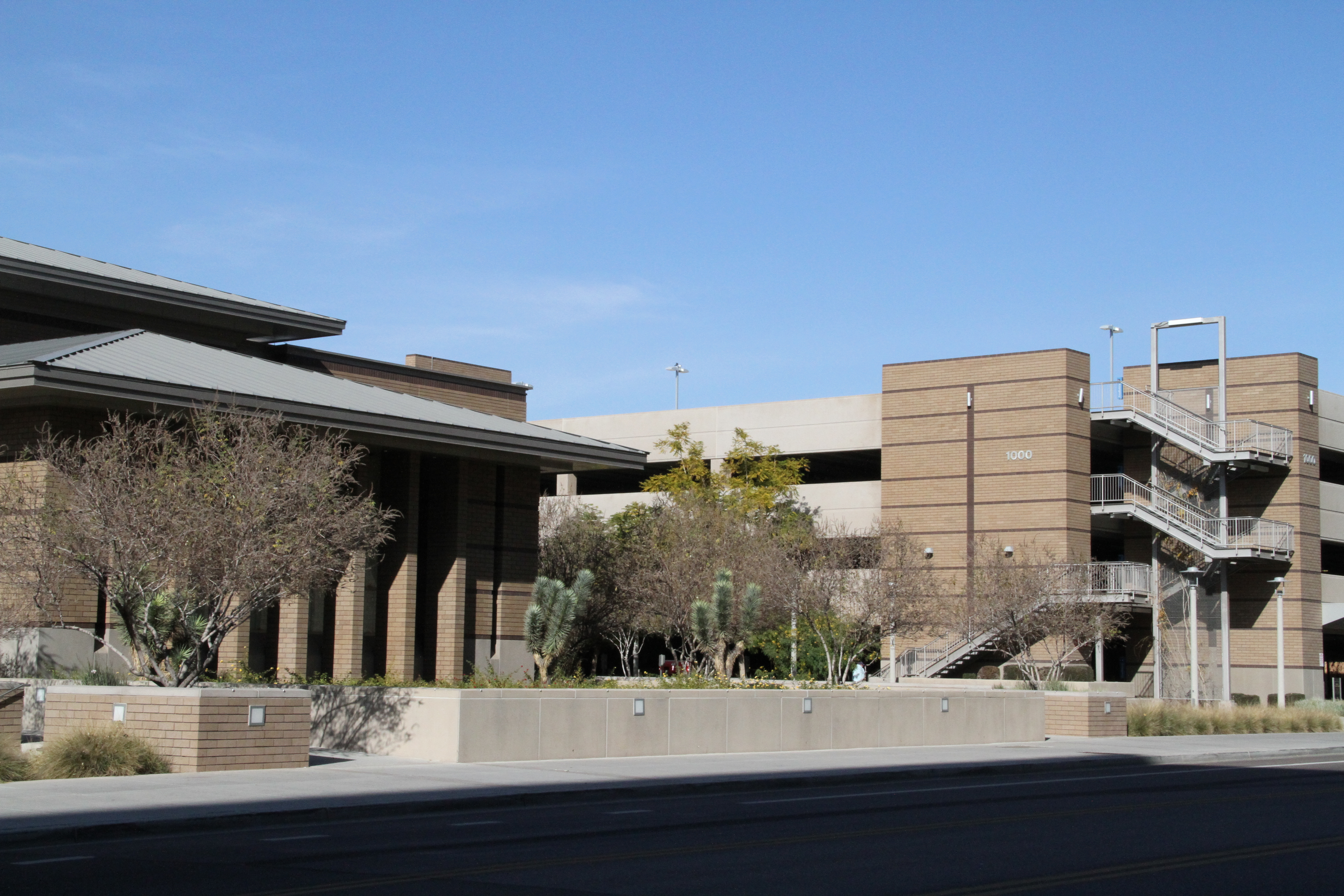 A view of the institute of religion building on the Arizona State University campus.