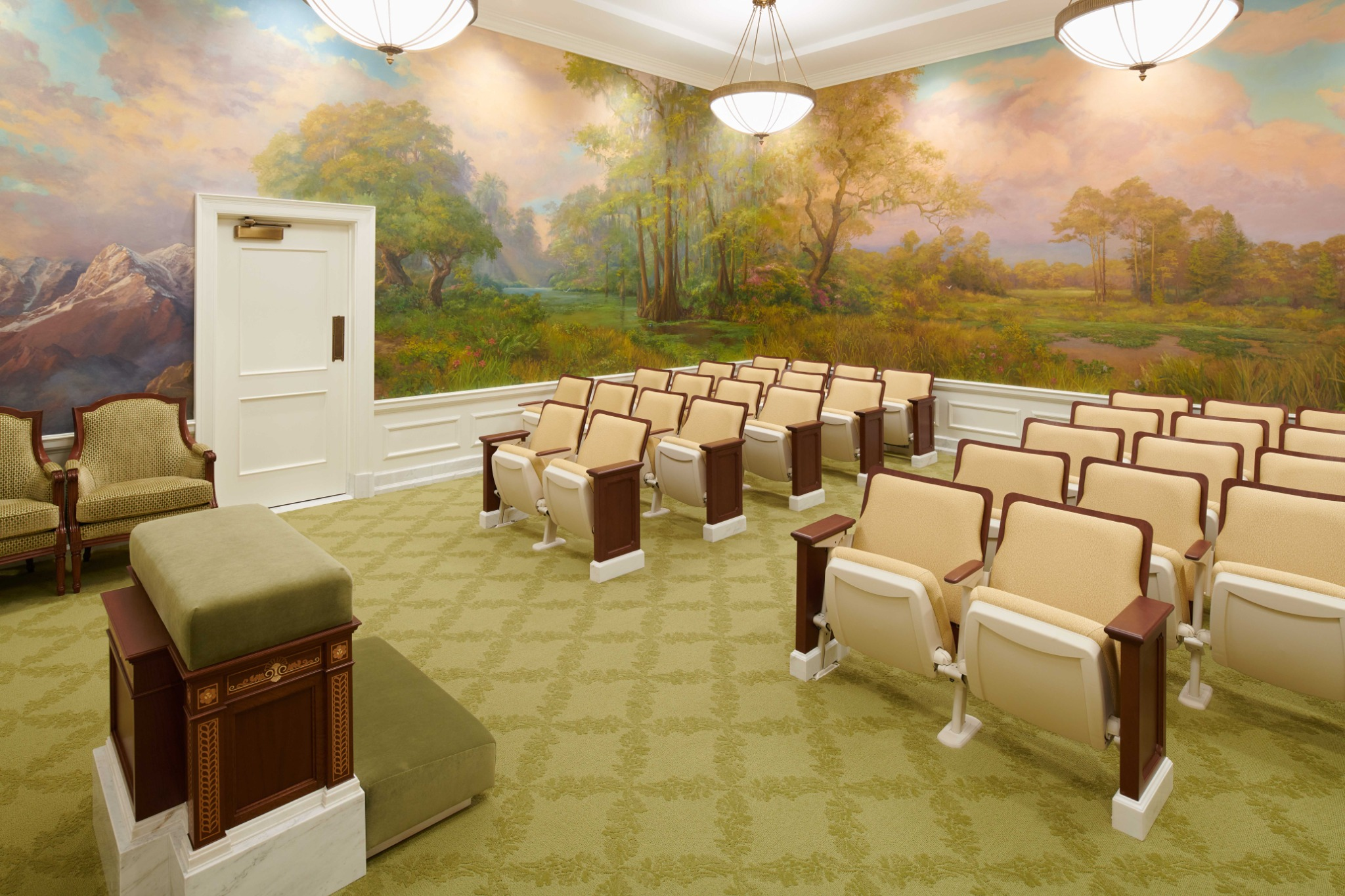 An instruction room in the Baton Rouge Louisiana Temple.