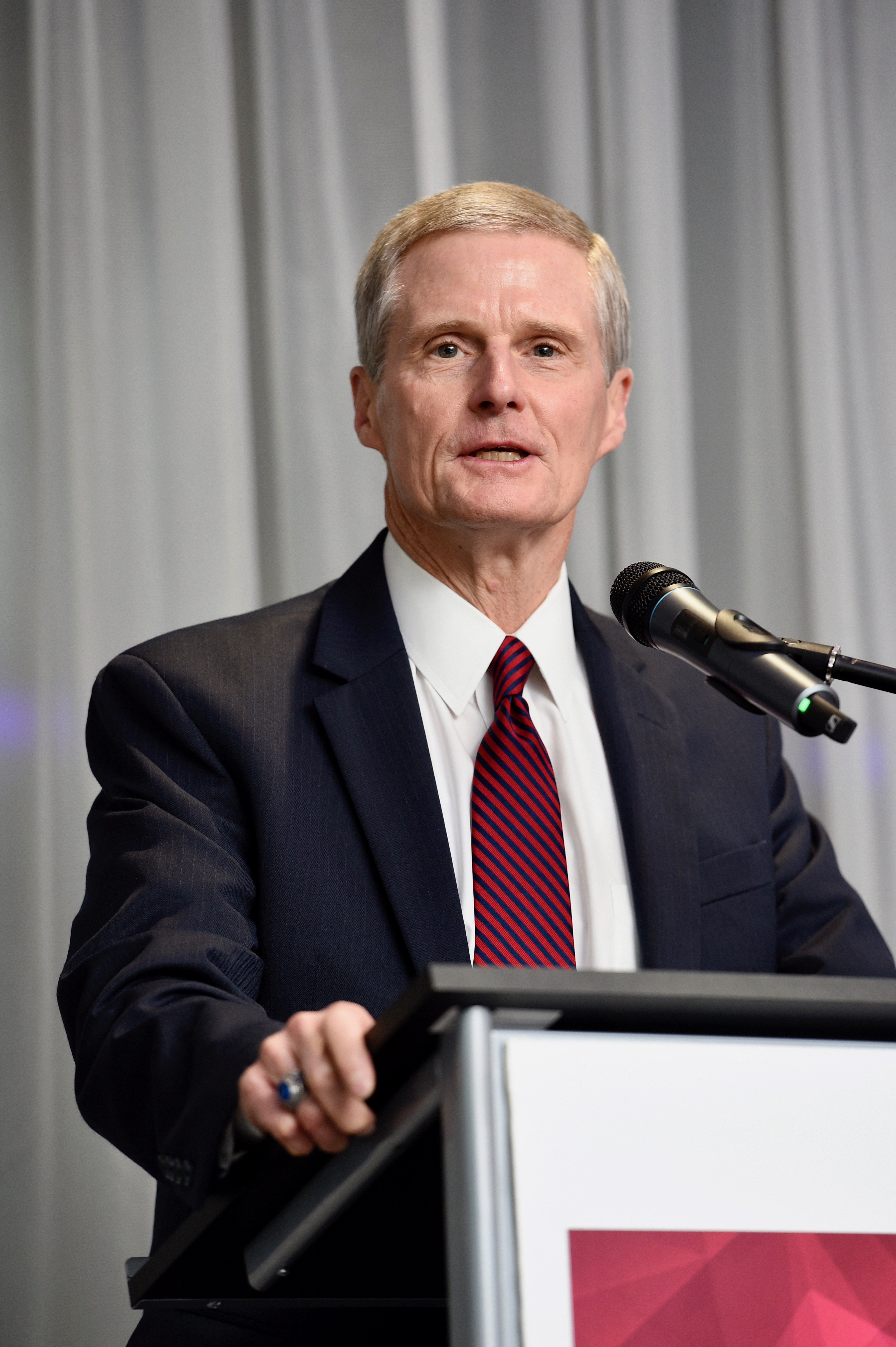 Elder David A Bednar of the Quorum of the Twelve Apostles speaks at a RootsTech London VIP dinner and reception Thursday, Oct. 24, 2019, in London, Great Britain.