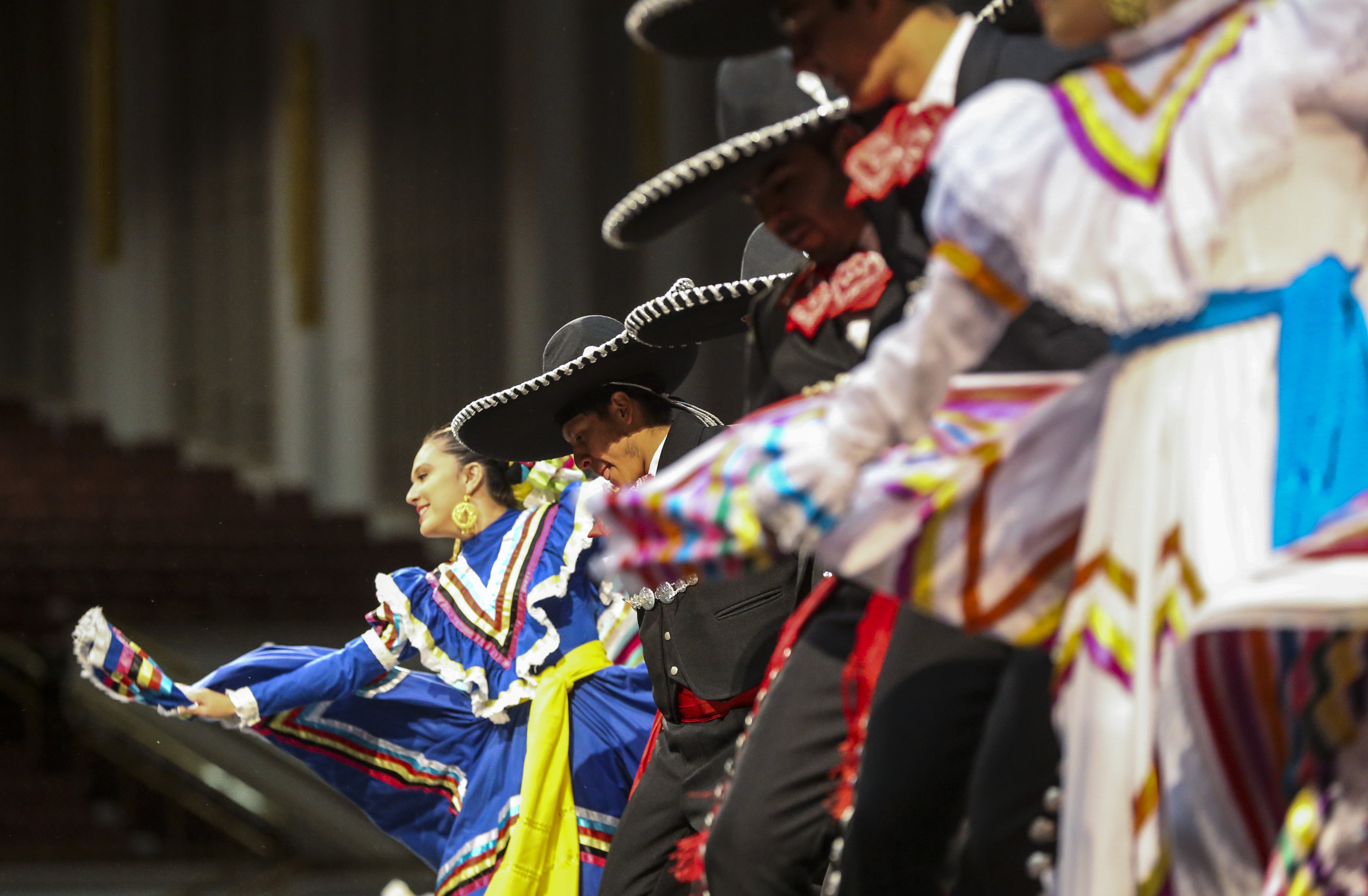 Dancers perform during the dress rehearsal of the Mexican dance Guadalajara LaNegra for the Luz de las Naciones performance at the Conference Center in Salt Lake City on Saturday, Oct. 26, 2019.