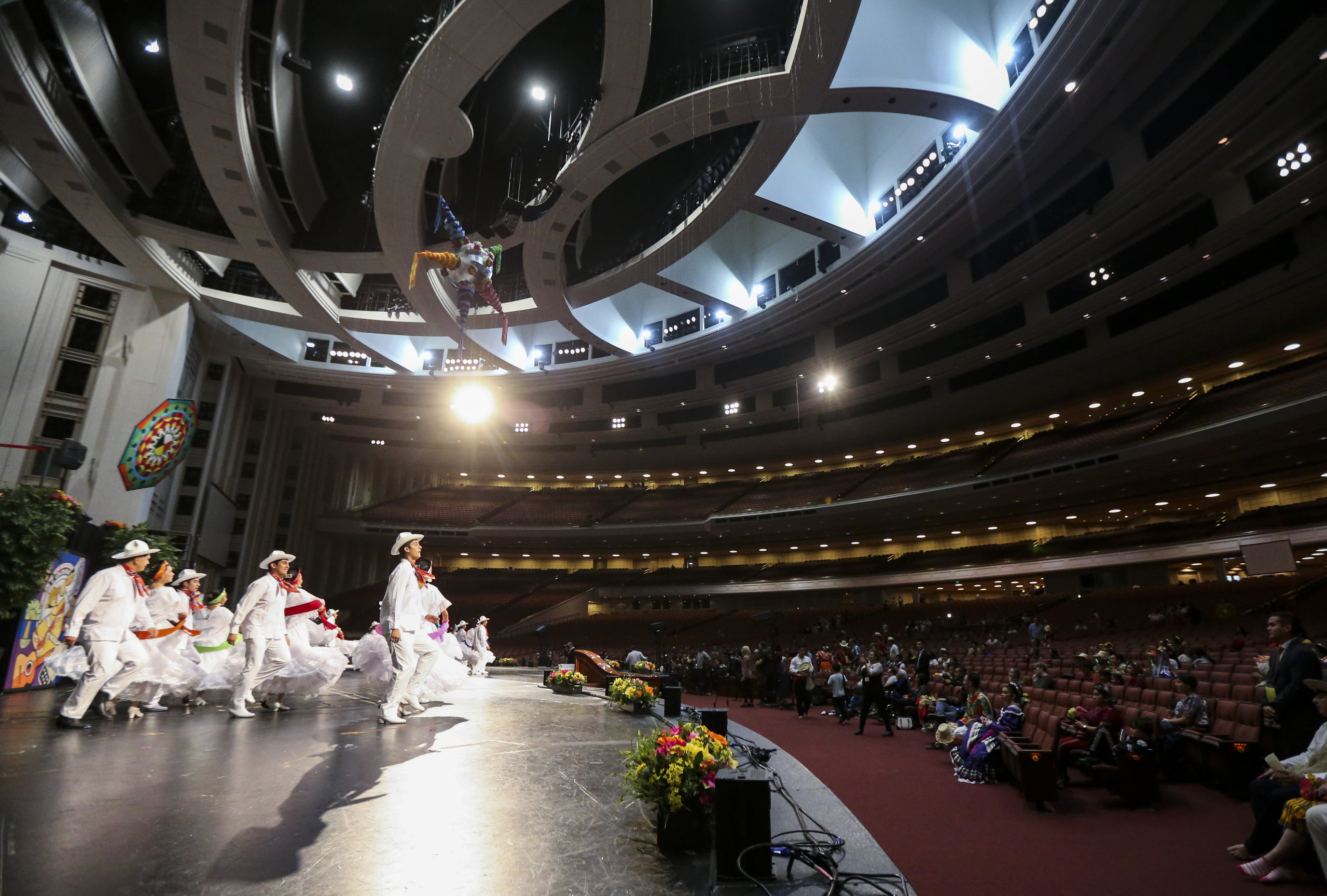 Dancers perform during the dress rehearsal of the Mexican dance La Iguana for the Luz de las Naciones performance at the Conference Center in Salt Lake City on Saturday, Oct. 26, 2019.