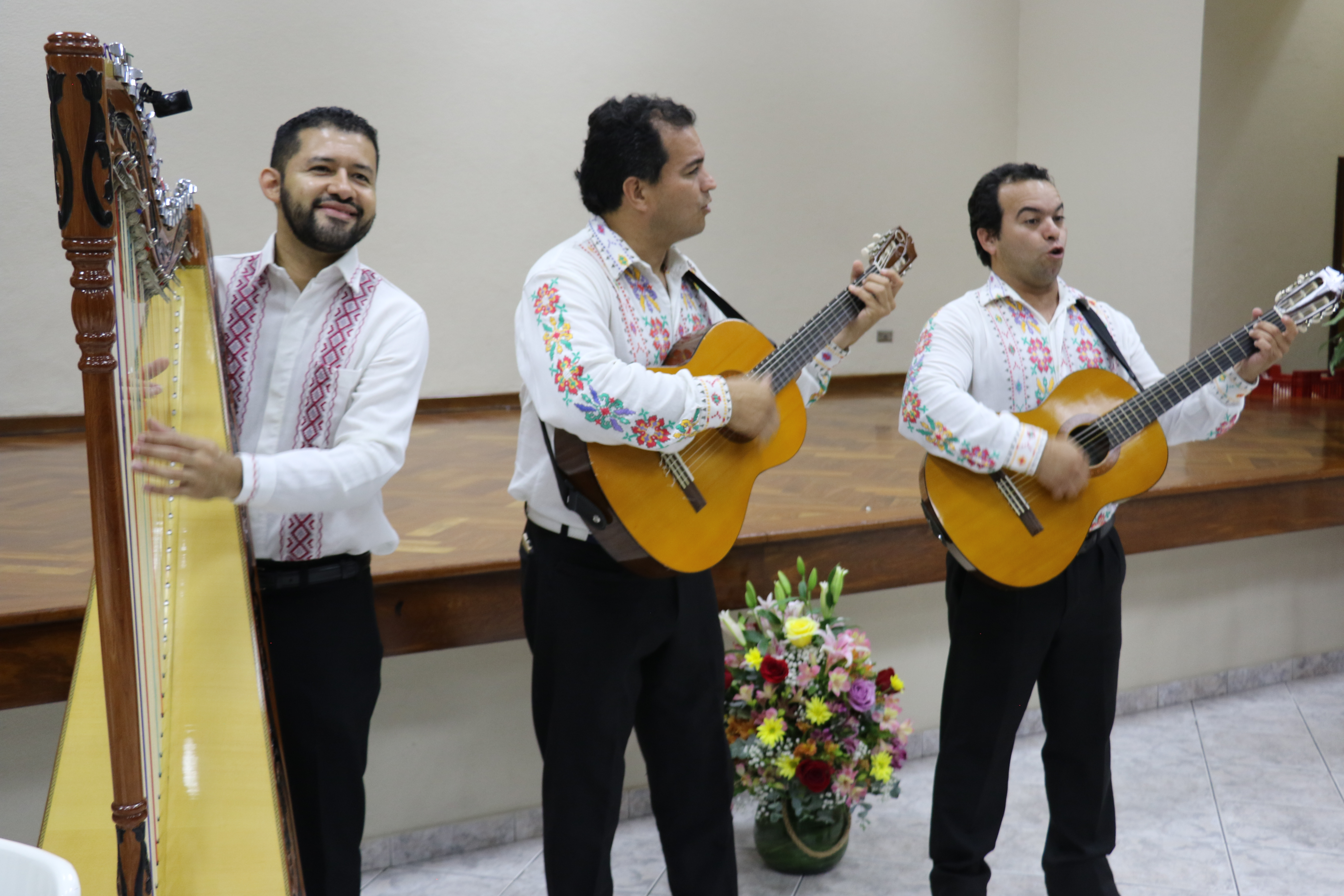 Guarani folk musicians entertained Church leaders on the eve of the Nov. 3, 2019, rededication of the Asuncion Paraguay Temple.